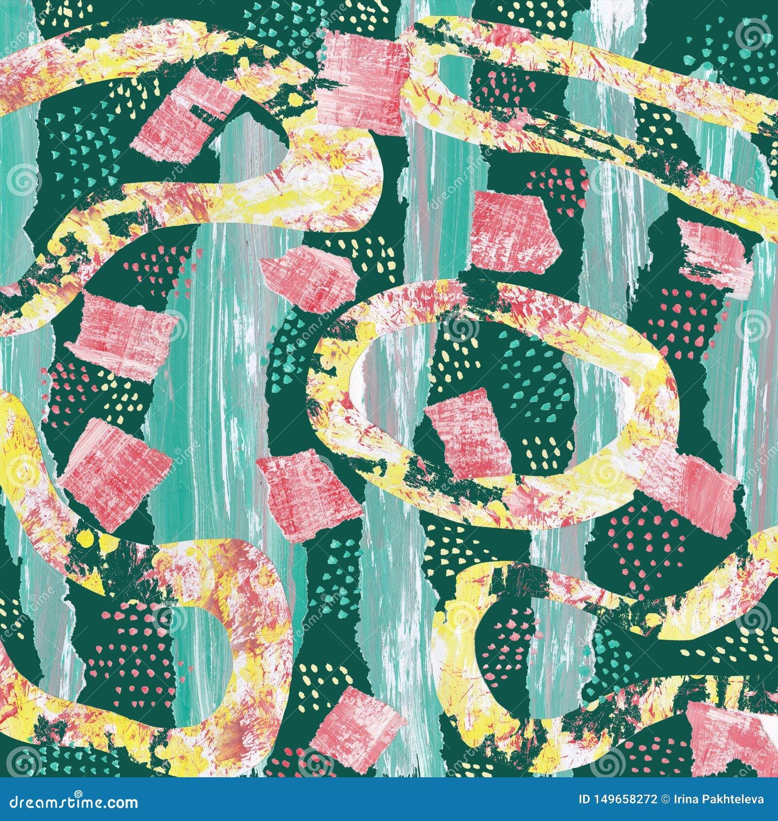 Abstracte achtergrond met een collage van multi-colored elementen