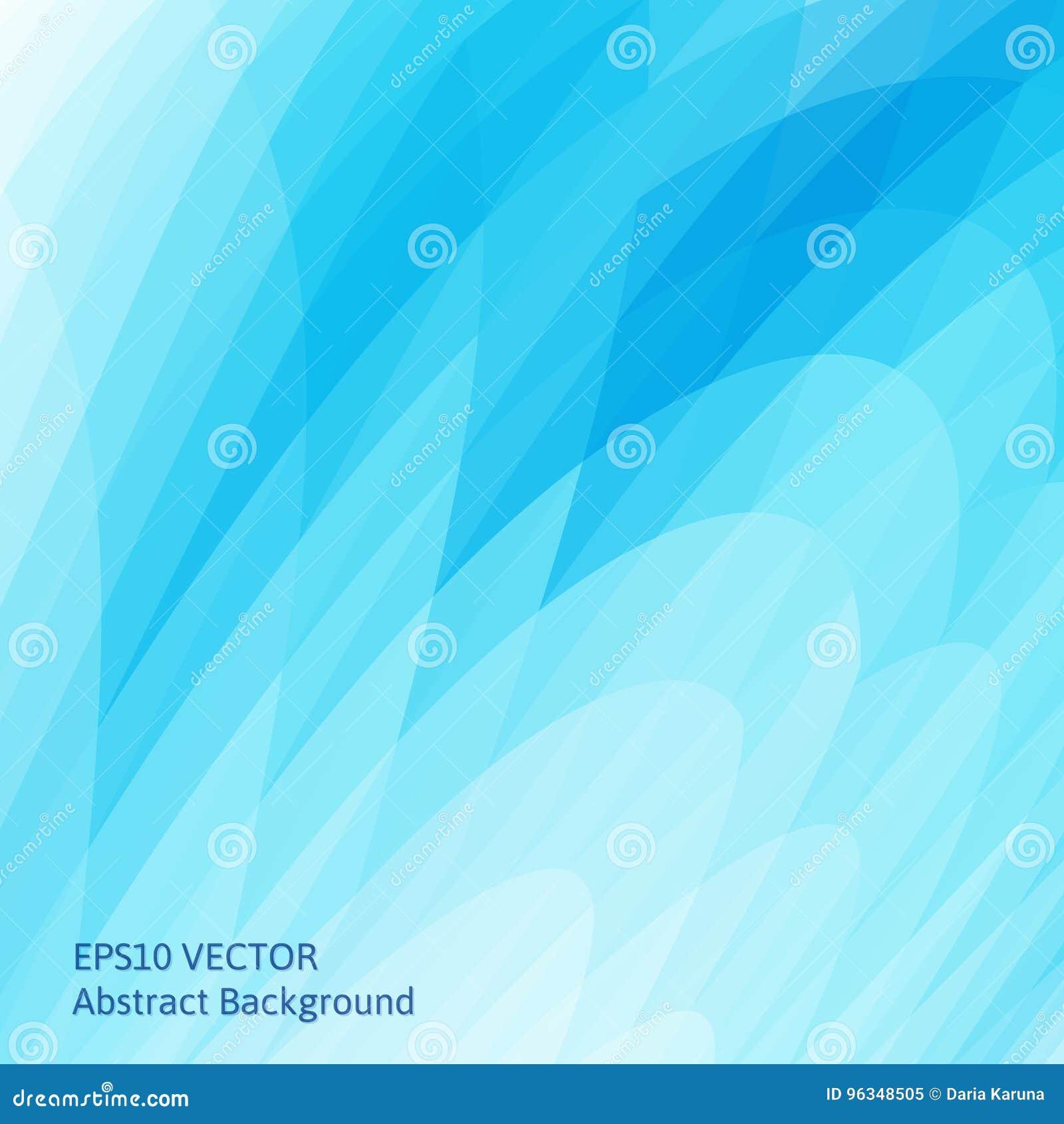 Abstracte achtergrond met heldere blauwe golvende vormen De vlotte krommen van de geometrische vormen