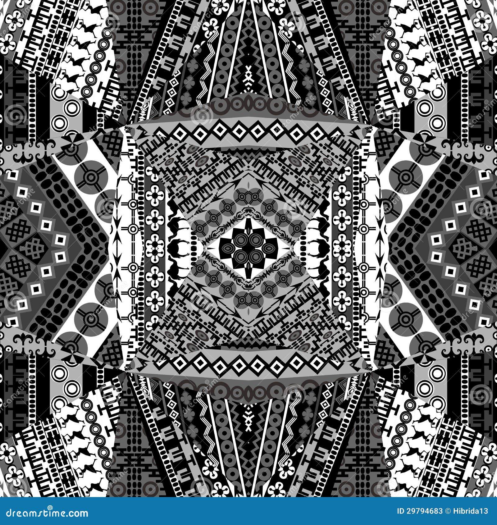 achtergrond met mozaïek van afrikaanse zwart-wit stock foto's
