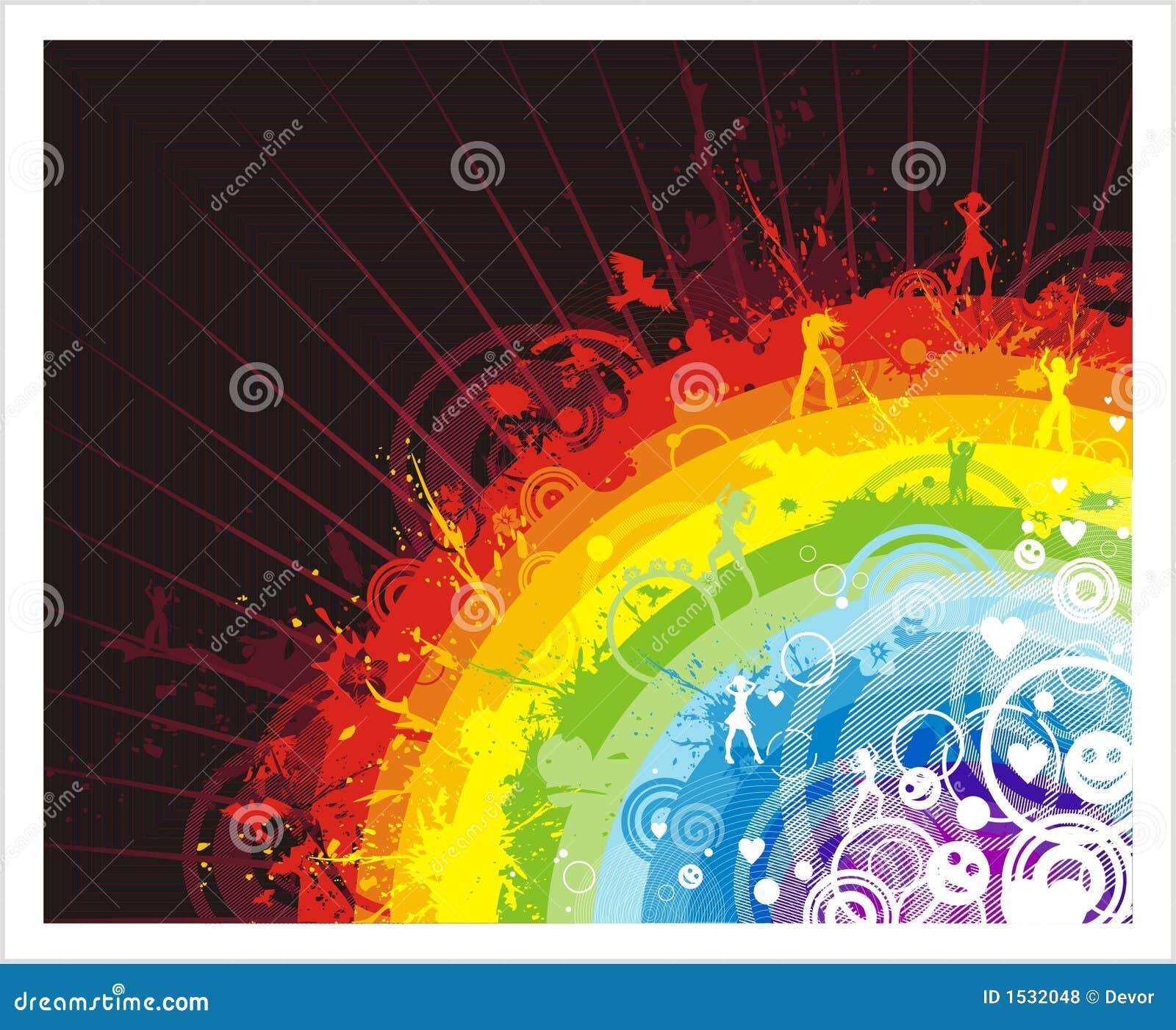 Abstracte achtergrond met regenboog