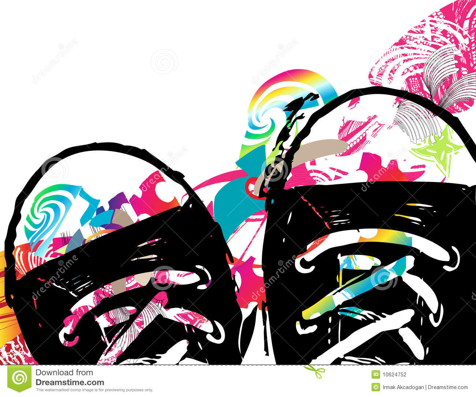 Abstracte achtergrond met schoenen