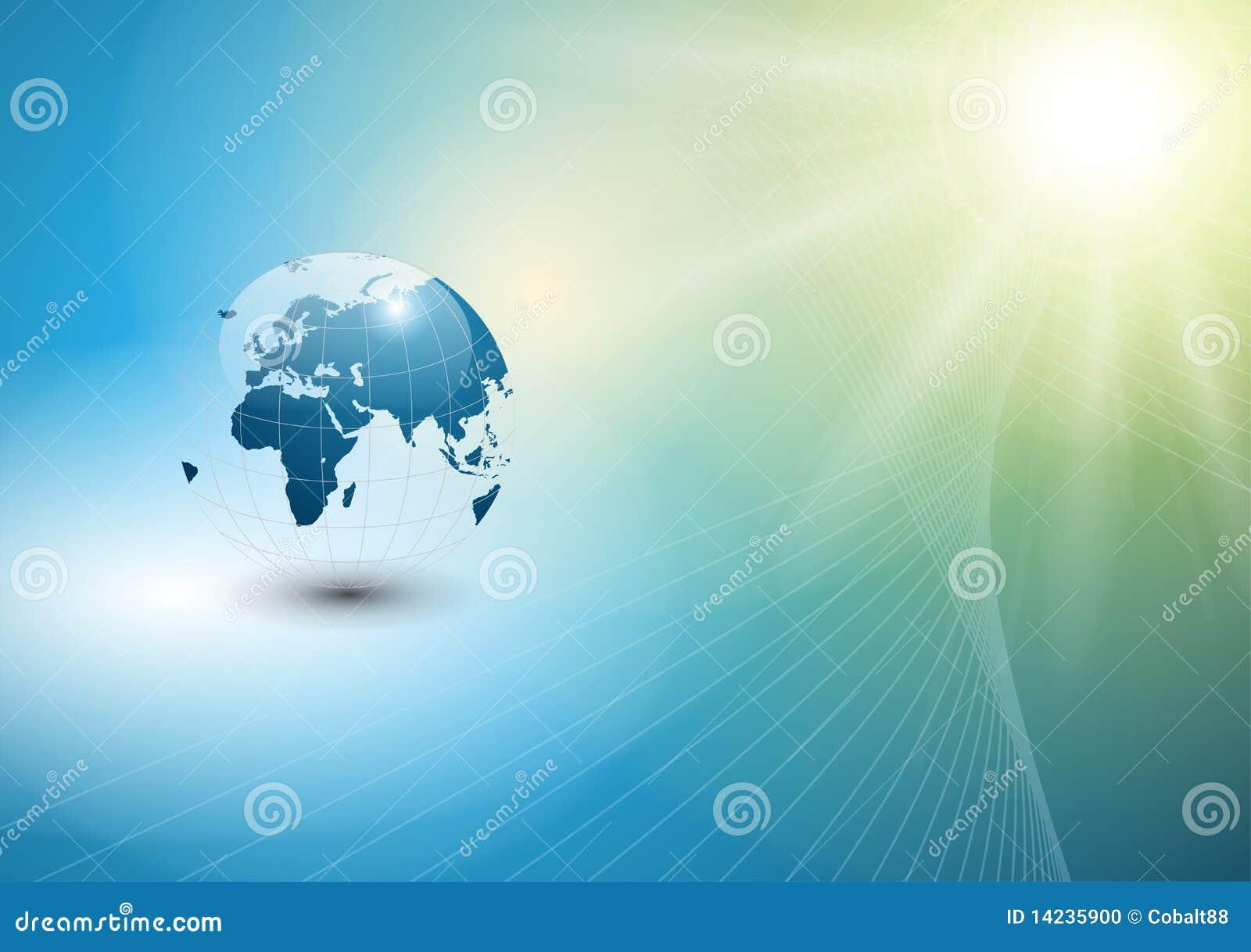Wereldbol Met Licht : Abstracte achtergrond met wereldbol vector illustratie