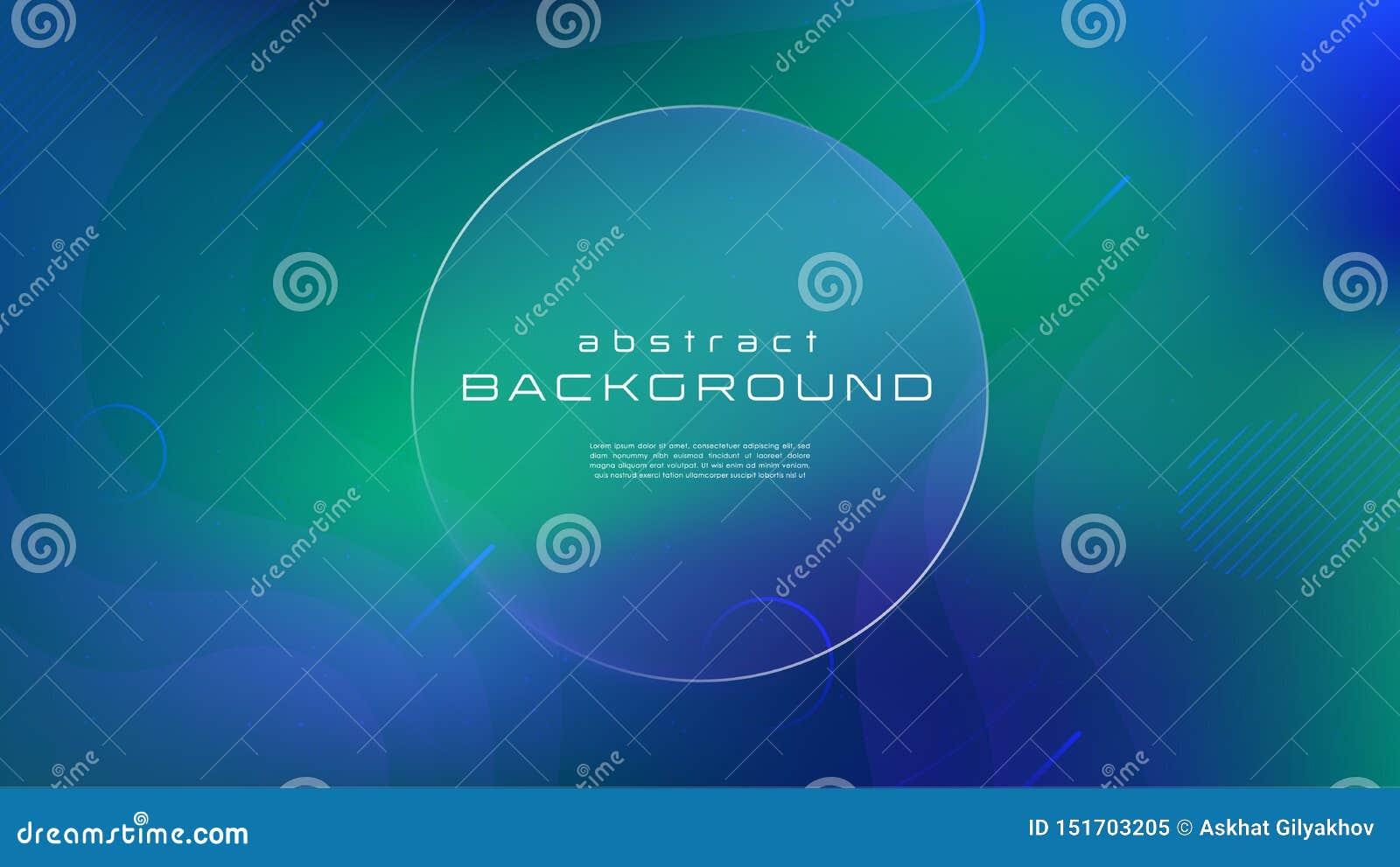 Abstracte achtergrond van de gradiënt de vloeibare blauwgroene kleur Vloeibaar vormen futuristisch concept Creatieve geometrische