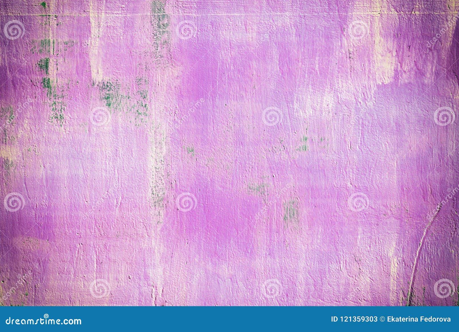 Abstracte achtergrond van helder roze kleur Vlekken en stroken van roest