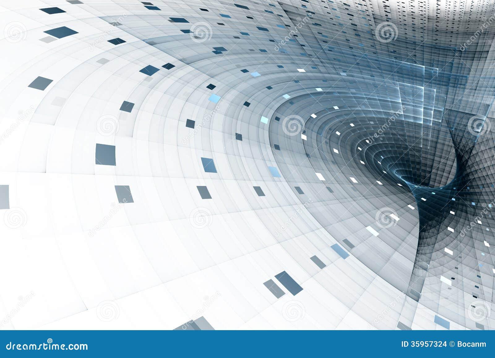 Abstracte bedrijfswetenschap of technologieachtergrond