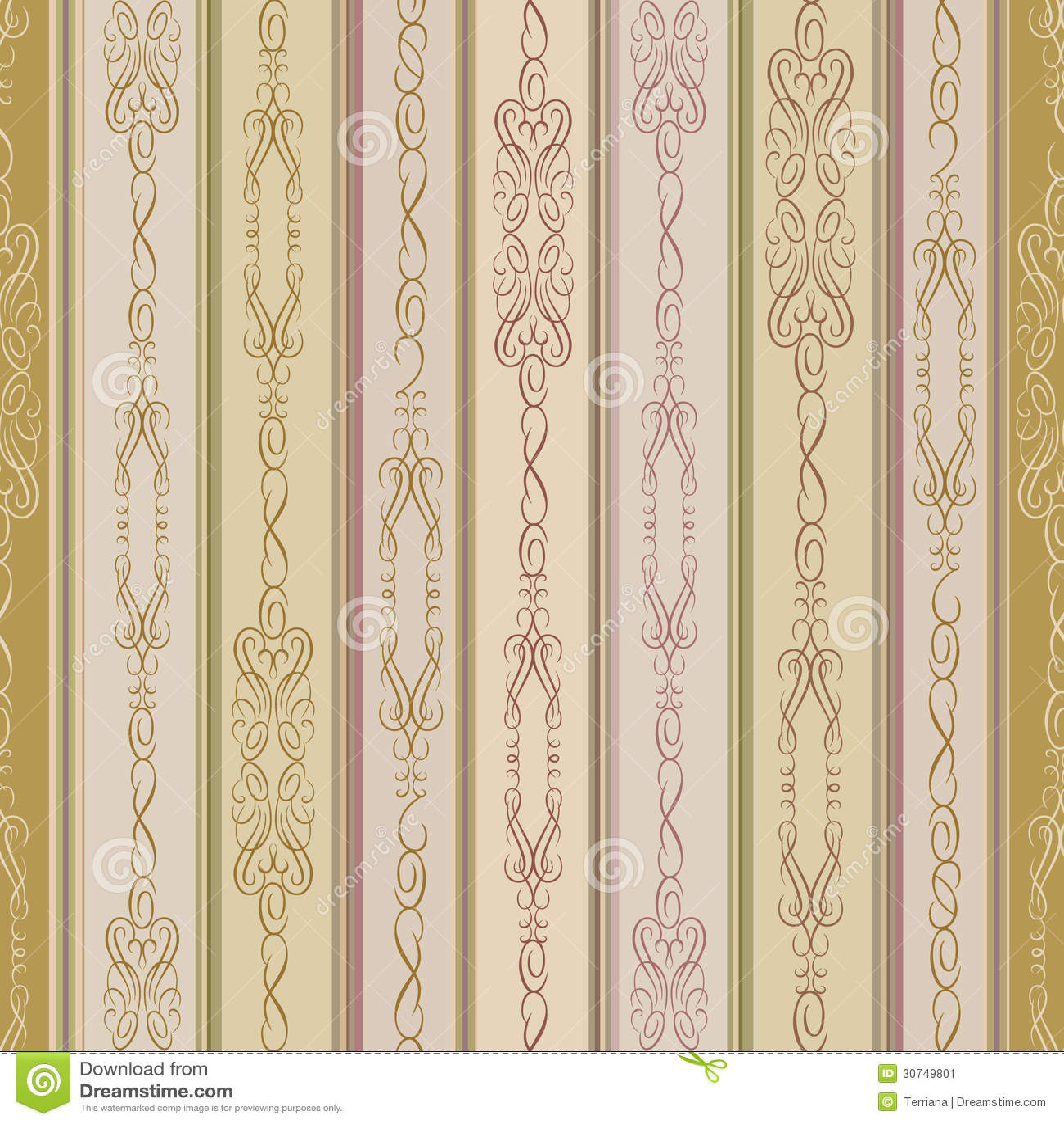 Abstracte beige en chocolade bloemen geometrische naad vector illustratie afbeelding 30749801 - Betegelde badkamer chocolade beige ...