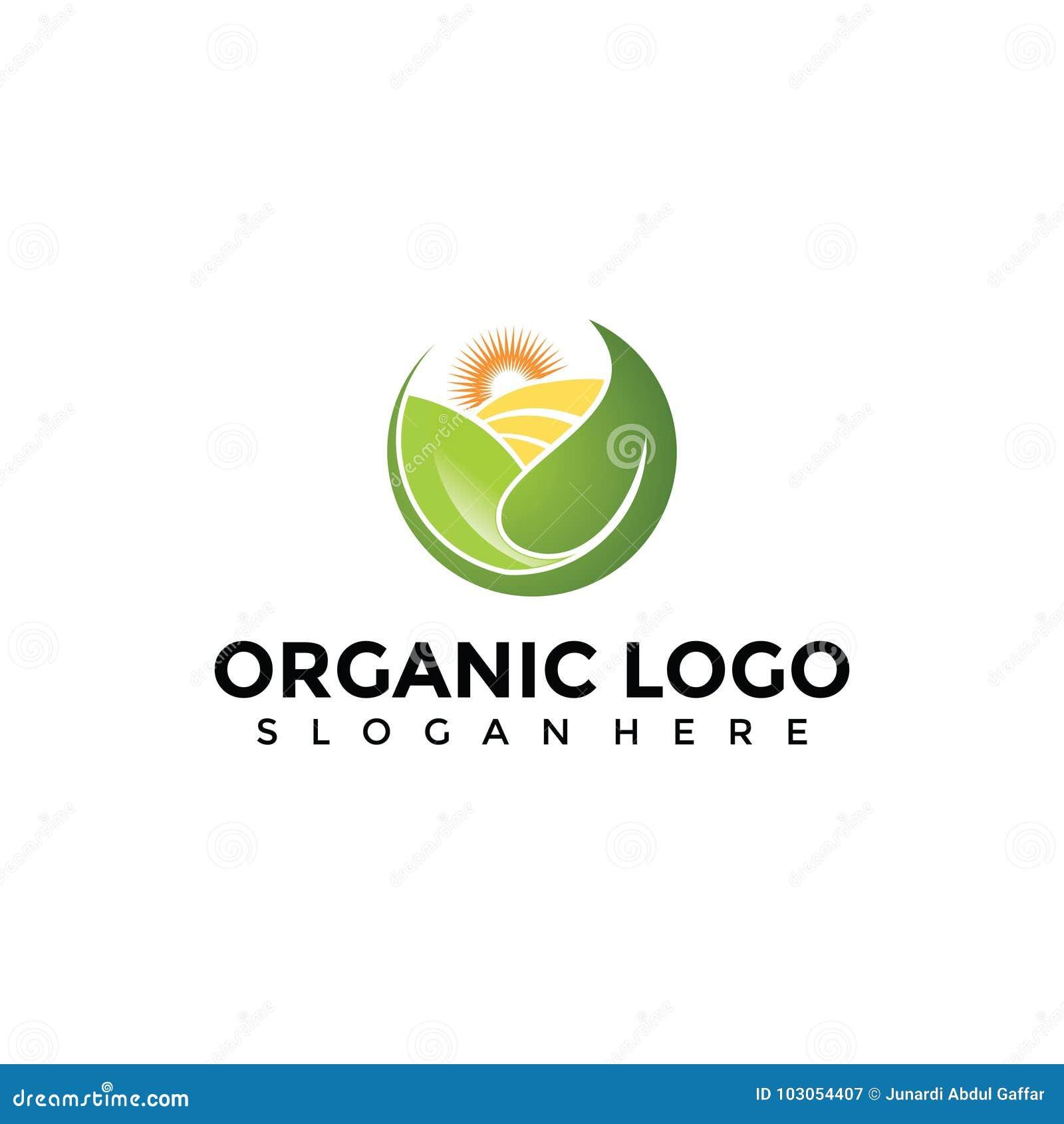 Abstracte Biologische landbouw Logo Template Vectorillustrator E