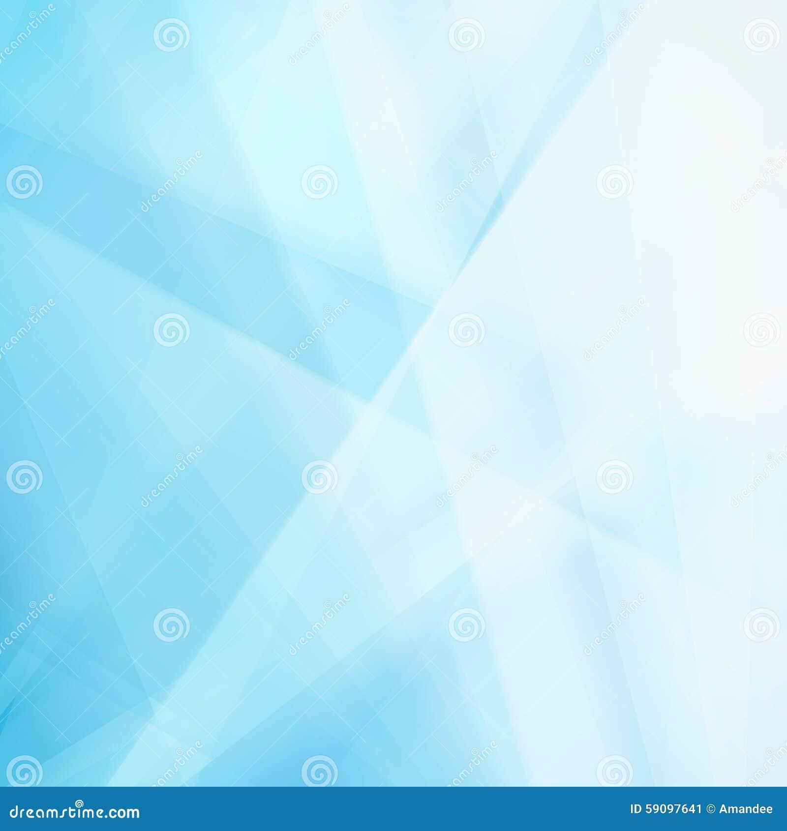Abstracte blauwe achtergrond met wit driehoeksvormen en onduidelijk beeld