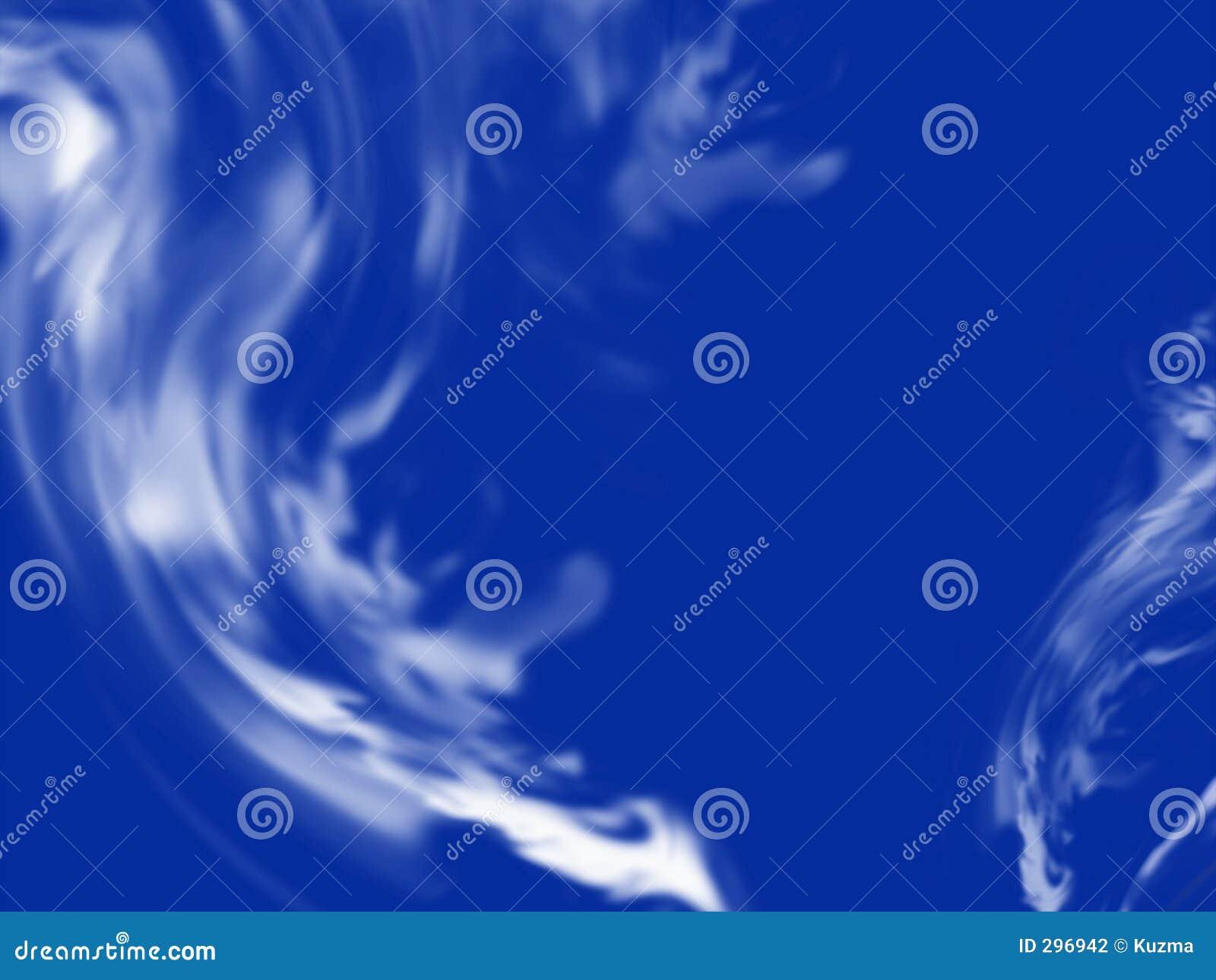 Abstracte blauwe rook