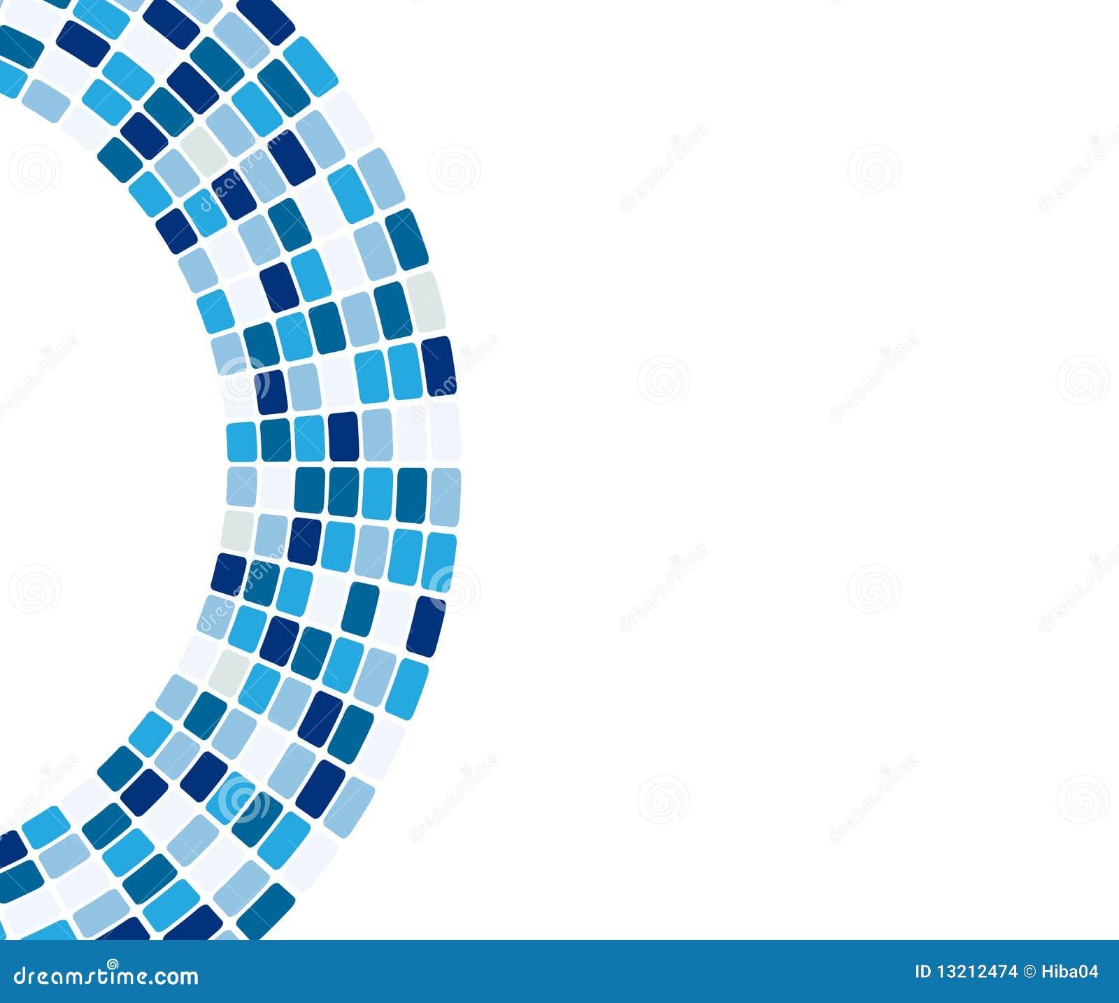 Abstracte blauwe tegels in boog