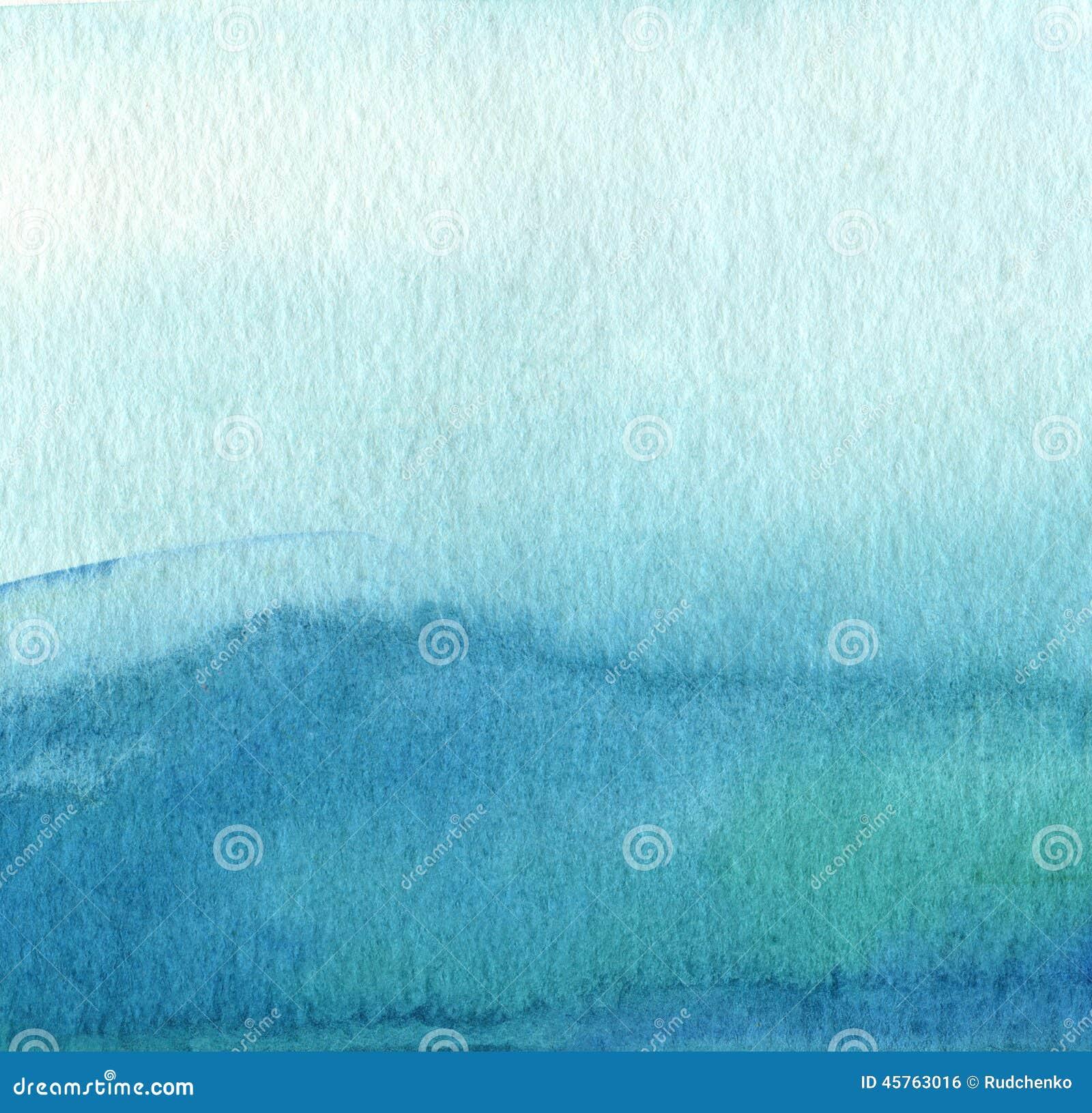 Abstracte blauwe waterverf geschilderde achtergrond