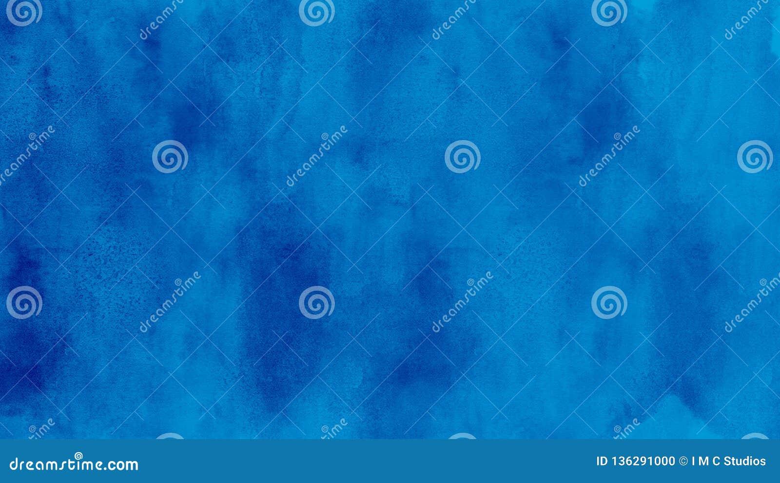 Abstracte blauwe waterverfillustratie als achtergrond