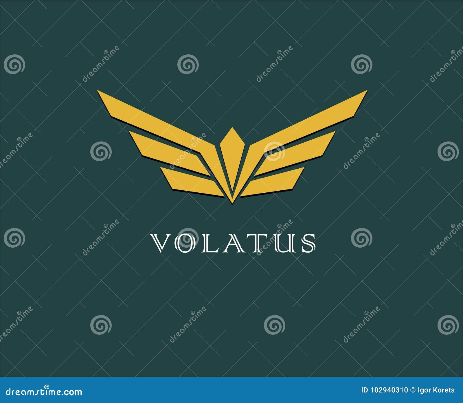 Abstracte bloem, vleugels vectorembleem Levering, zaken, lading, succes, geld, overeenkomst, contract, team, samenwerkingssymbool