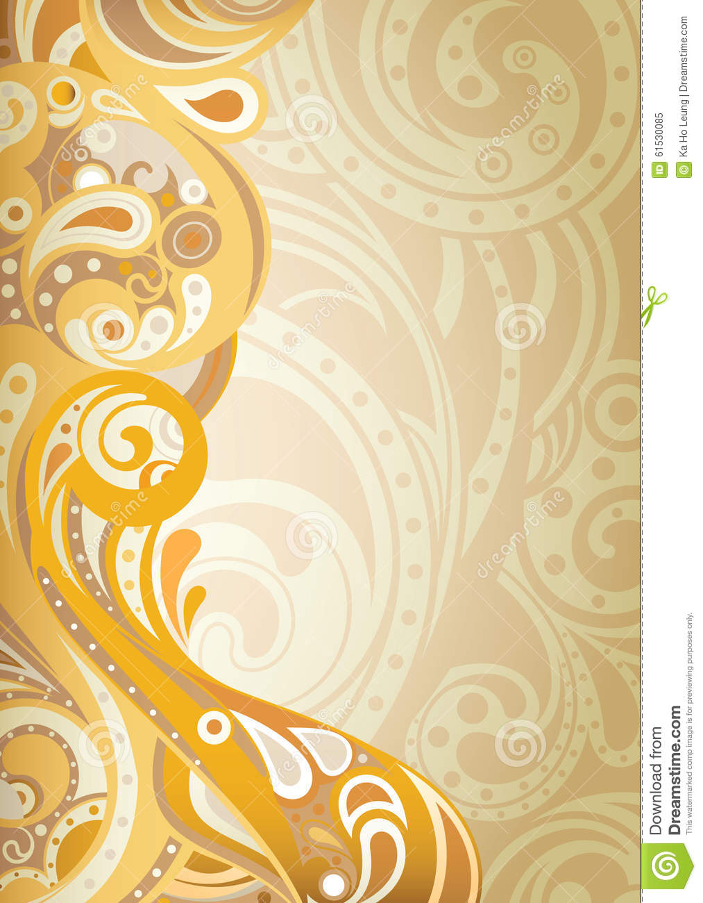 Abstracte bloemenachtergrond stock illustratie for Modern behang