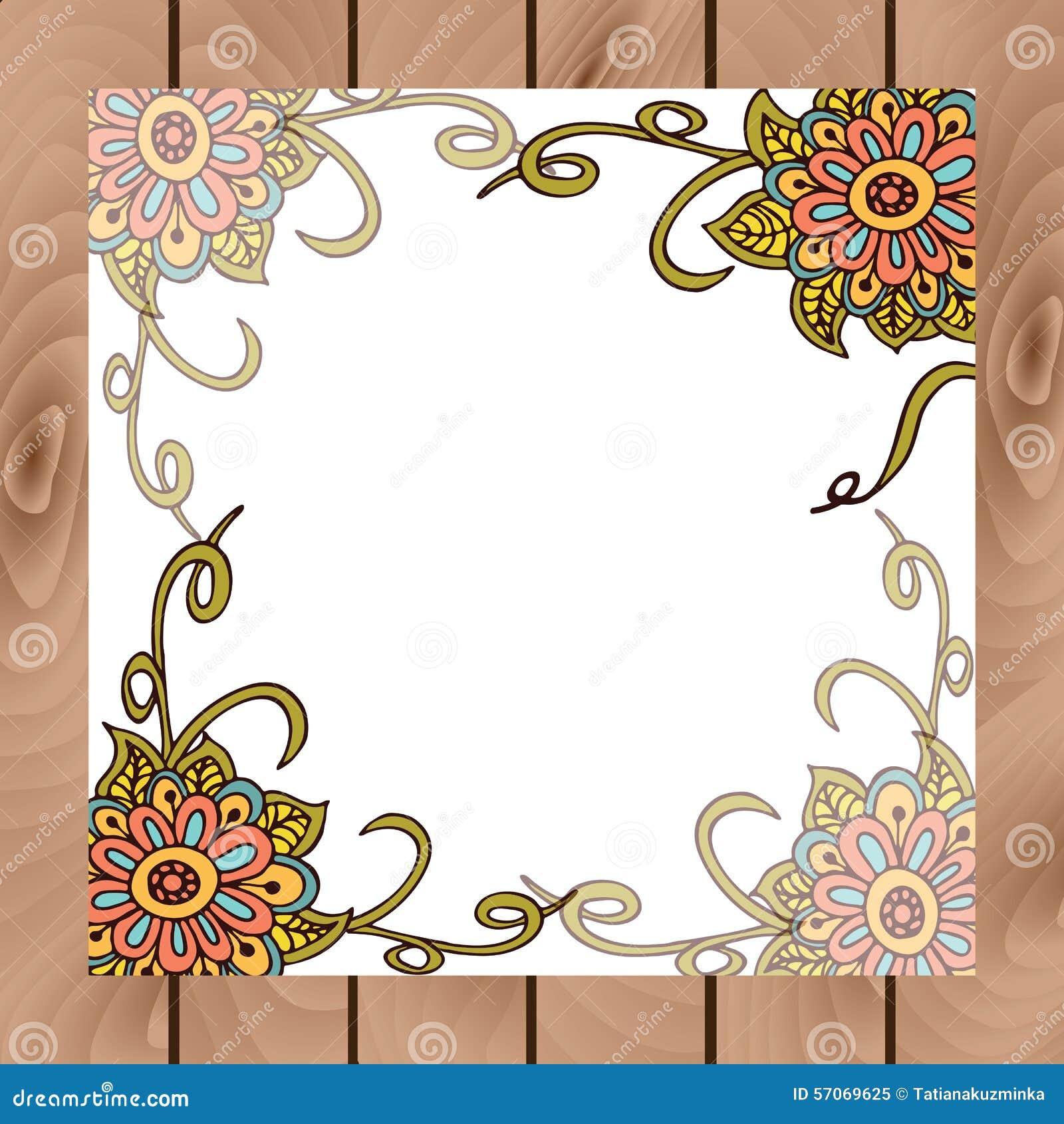 Abstracte bloemenraad in Indische stijl
