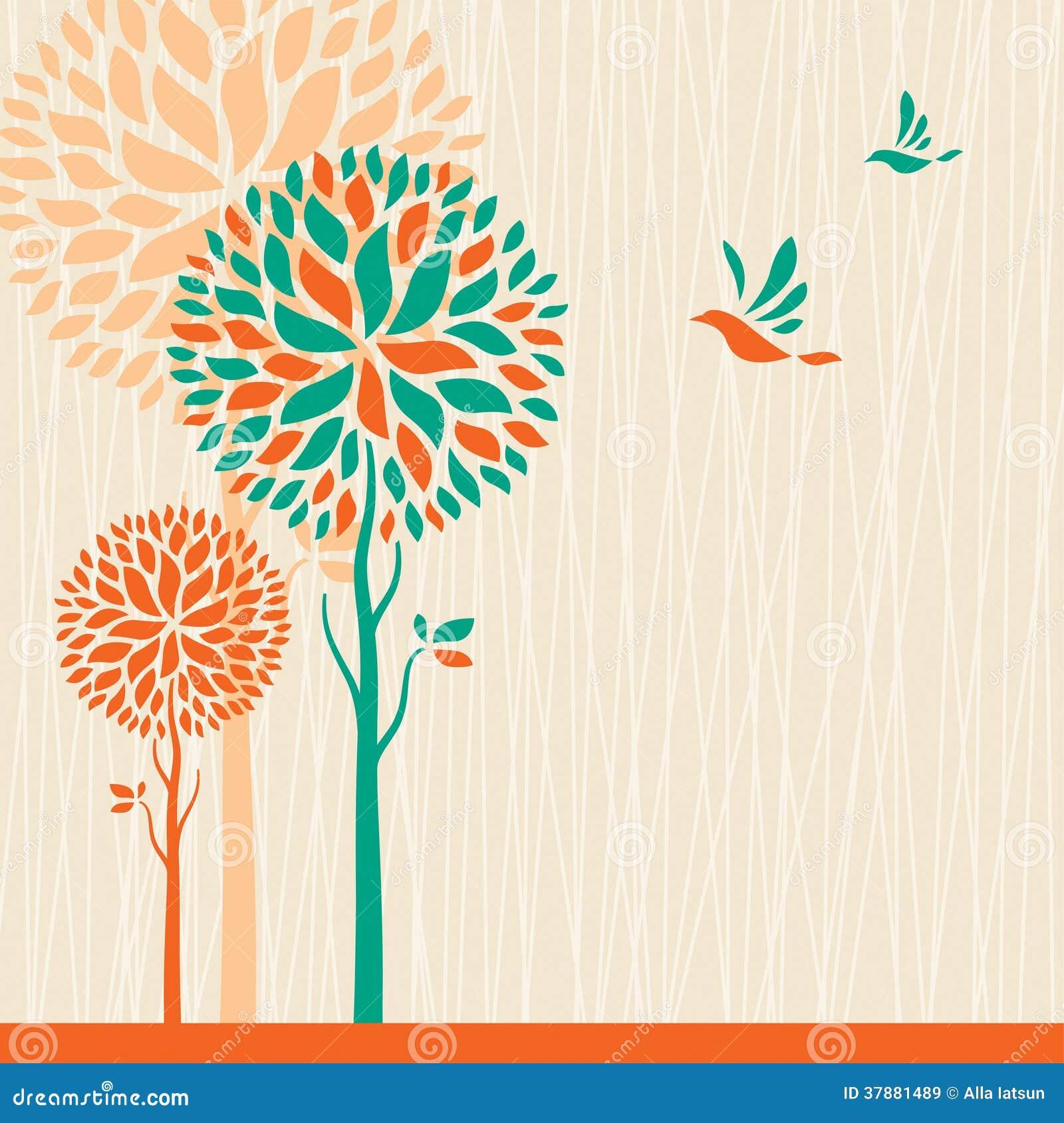 Abstracte bomenachtergrond