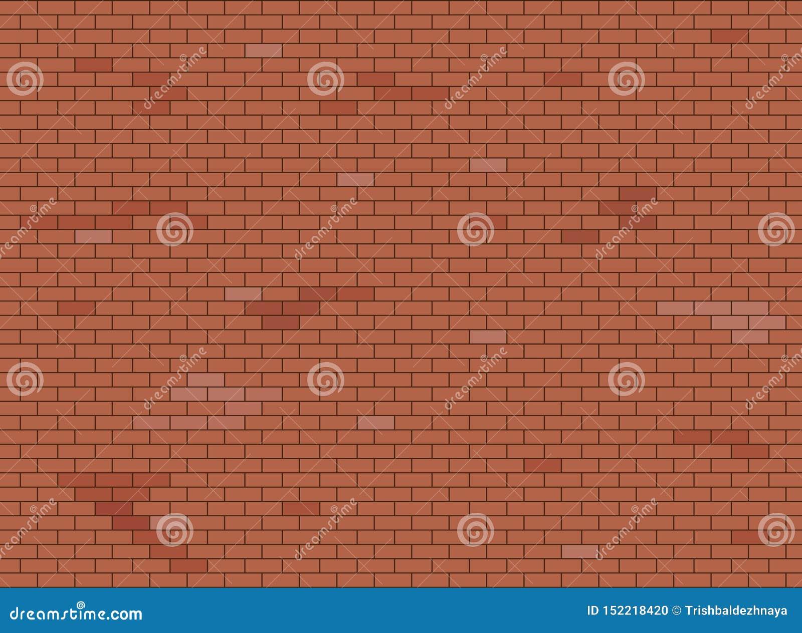 Abstracte bruine en rode bakstenen muurtextuur als achtergrond, Vectorillustratie
