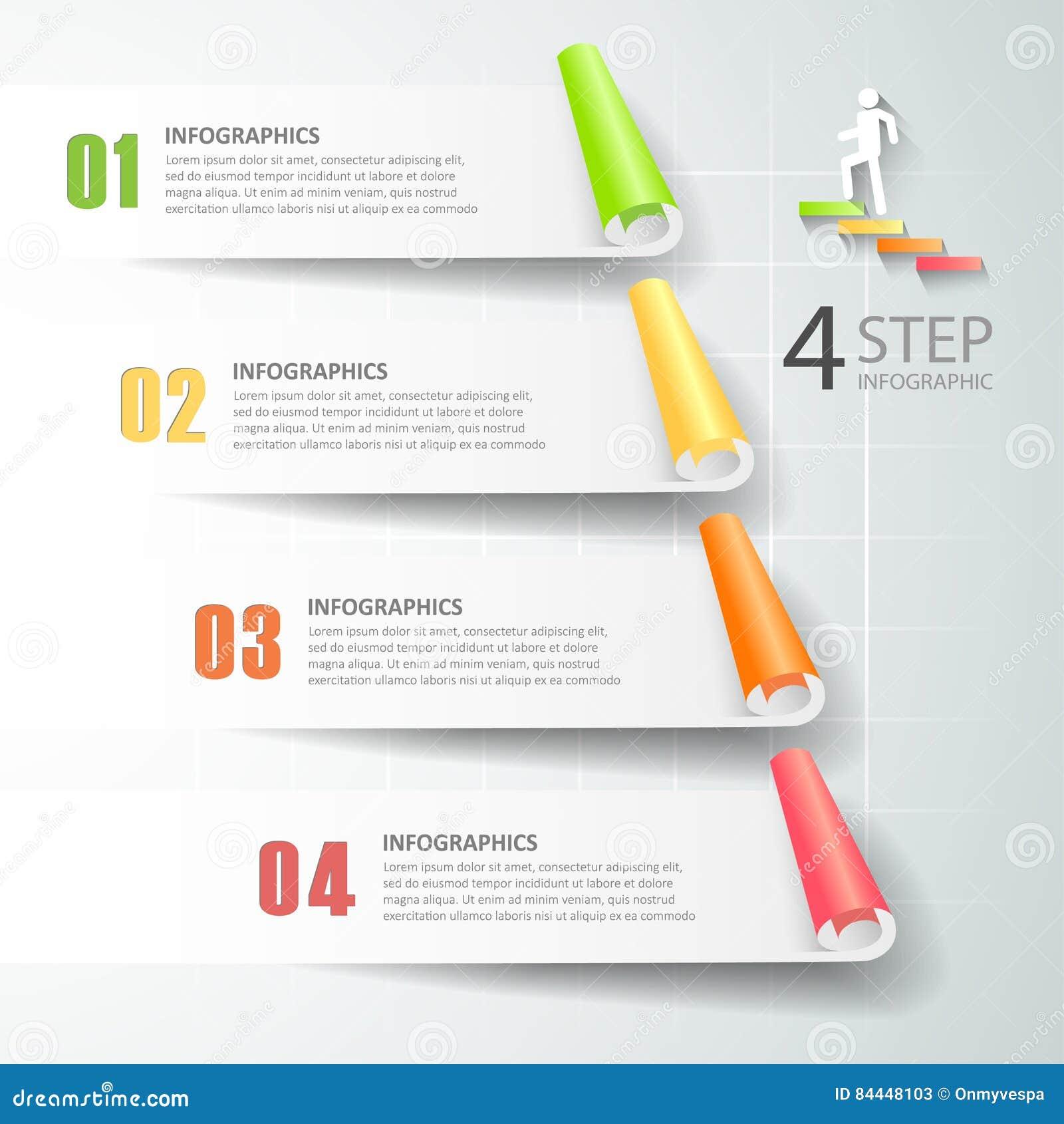 Abstracte 3d infographic 4 opties, Bedrijfs infographic concept