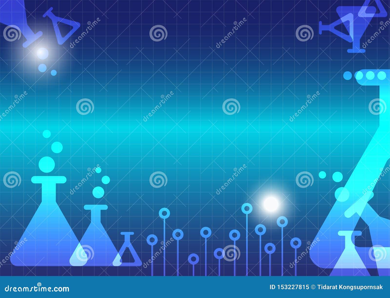 Abstracte de flesachtergrond van Erlenmeyer van het wetenschapsexperiment