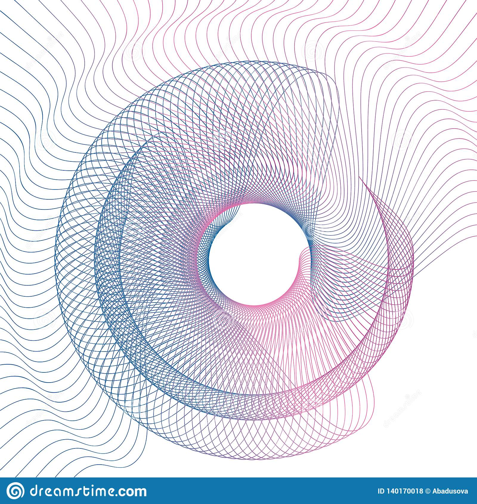 Abstracte de gradiënt van de lijngolf vectorillustratie als achtergrond
