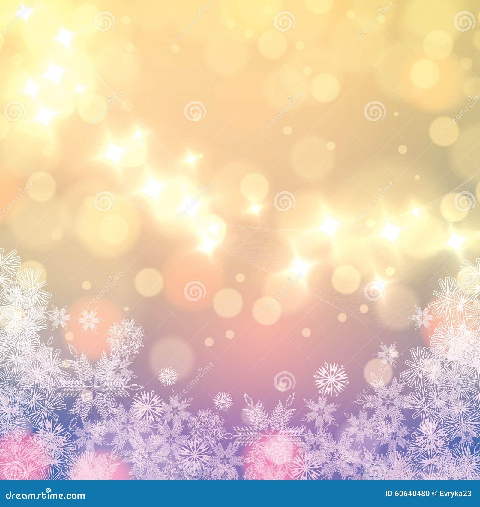 Abstracte de sneeuwvlokkenachtergrond van de winter lichte for Lichte kleuren interieur