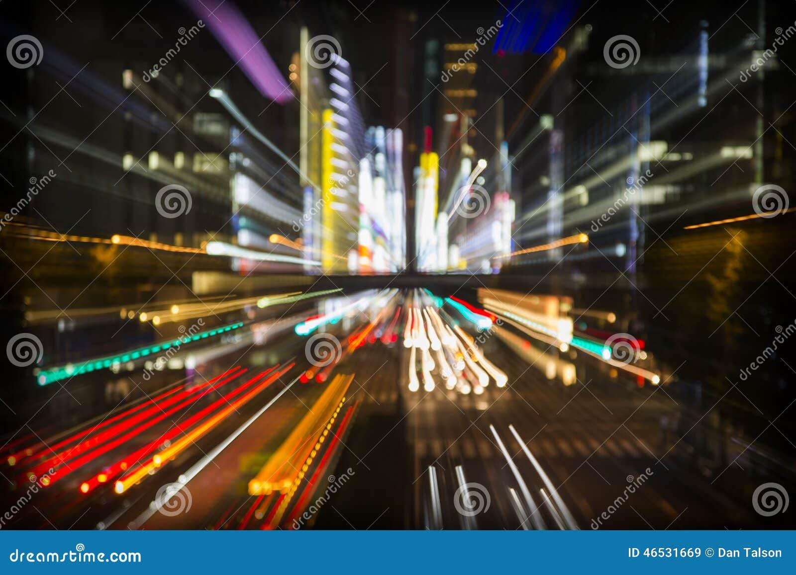Abstracte de stadslichten van Tokyo