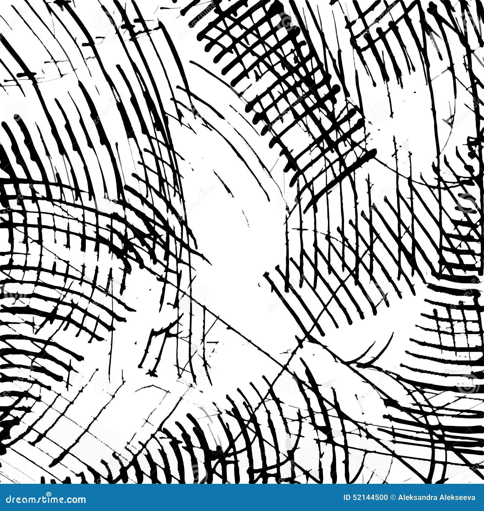 Abstracte de textuurvector van de inktkras