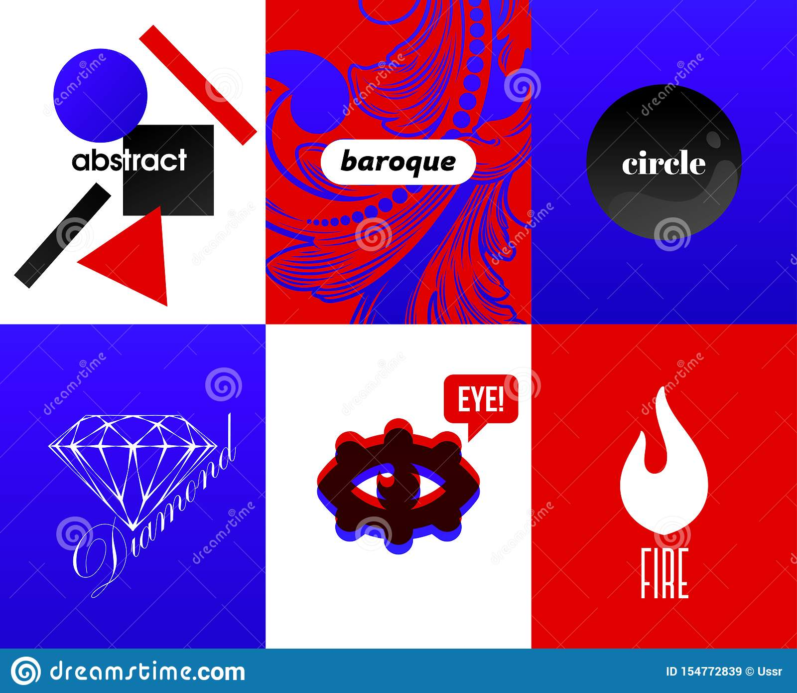 Abstracte dekking met moderne ontwerpelementen en koele typografisch op heldere en trillende gradiëntachtergronden Hipstersalfabe