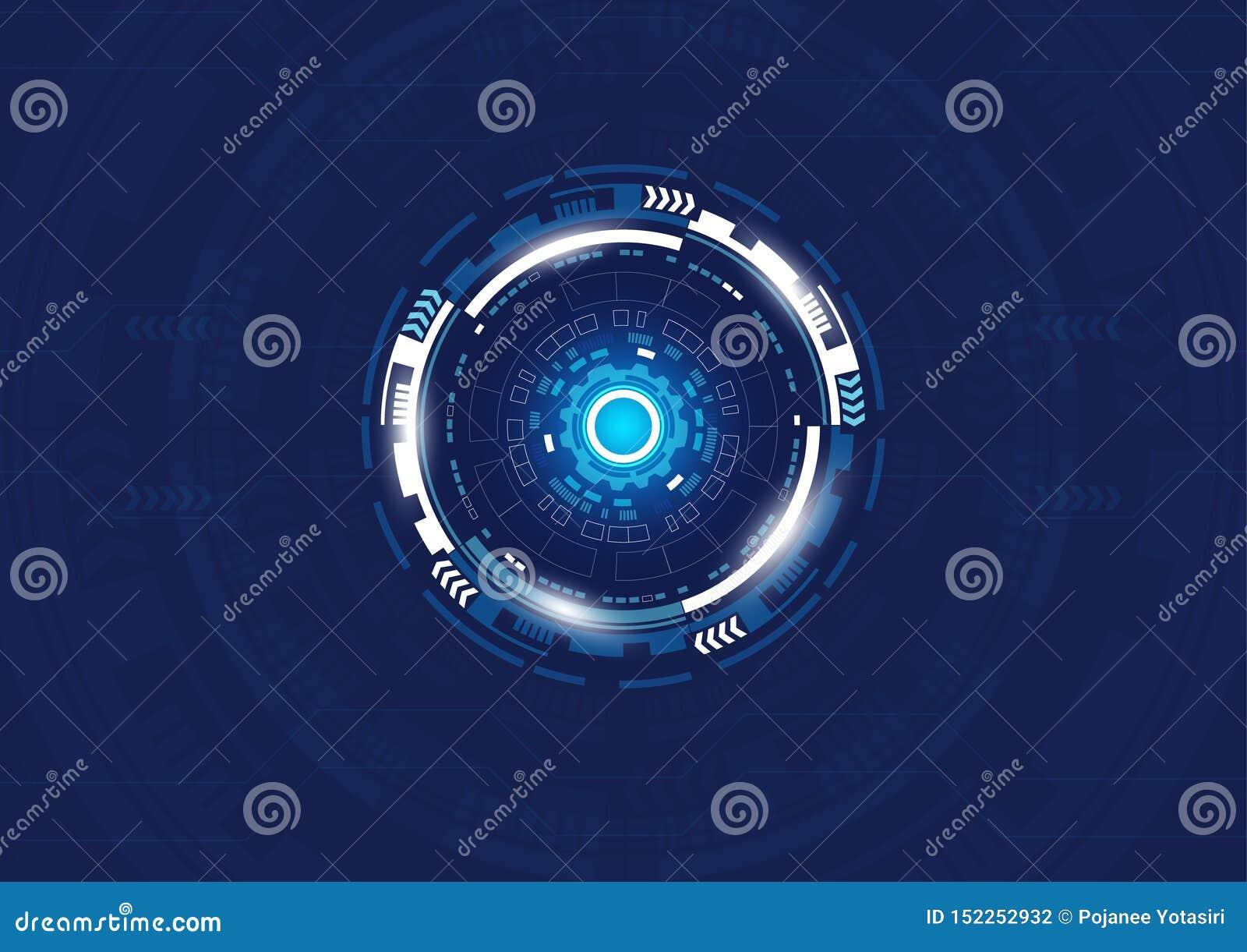 Abstracte Digitale technologieachtergrond, Hi-Tech ontwerp