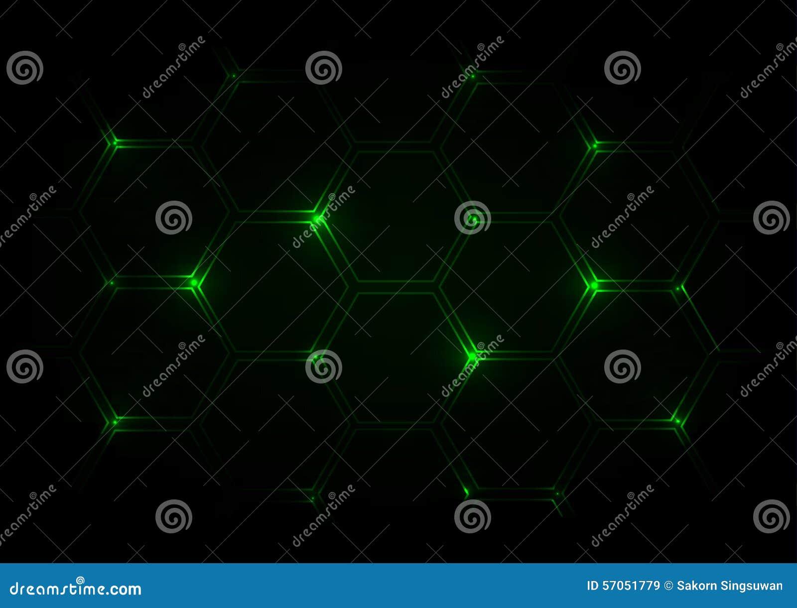 Abstracte donkergroene achtergrond met zeshoeken