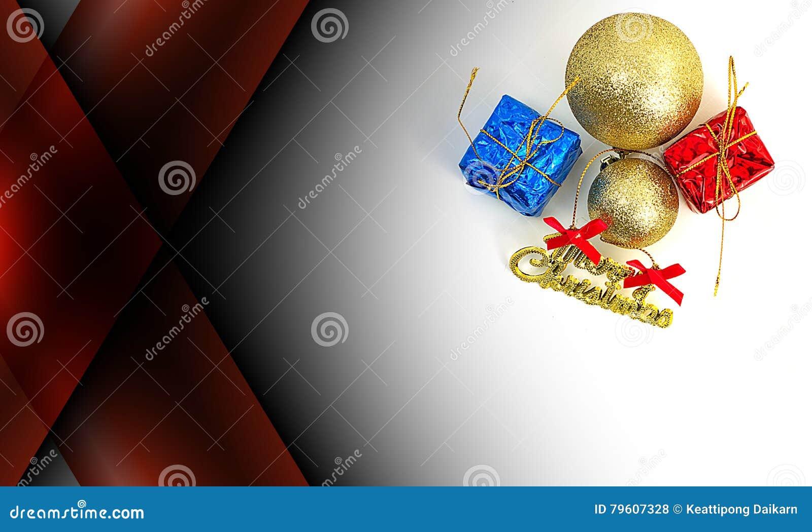 Abstracte donkerrode kleurenachtergrond met Kerstmisdecoratie