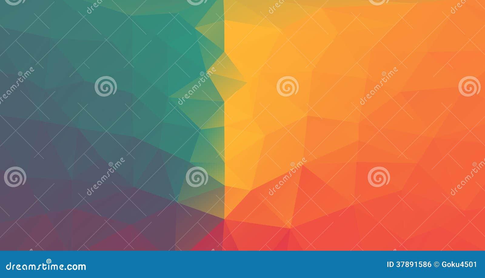 Abstracte driehoeksillustratie