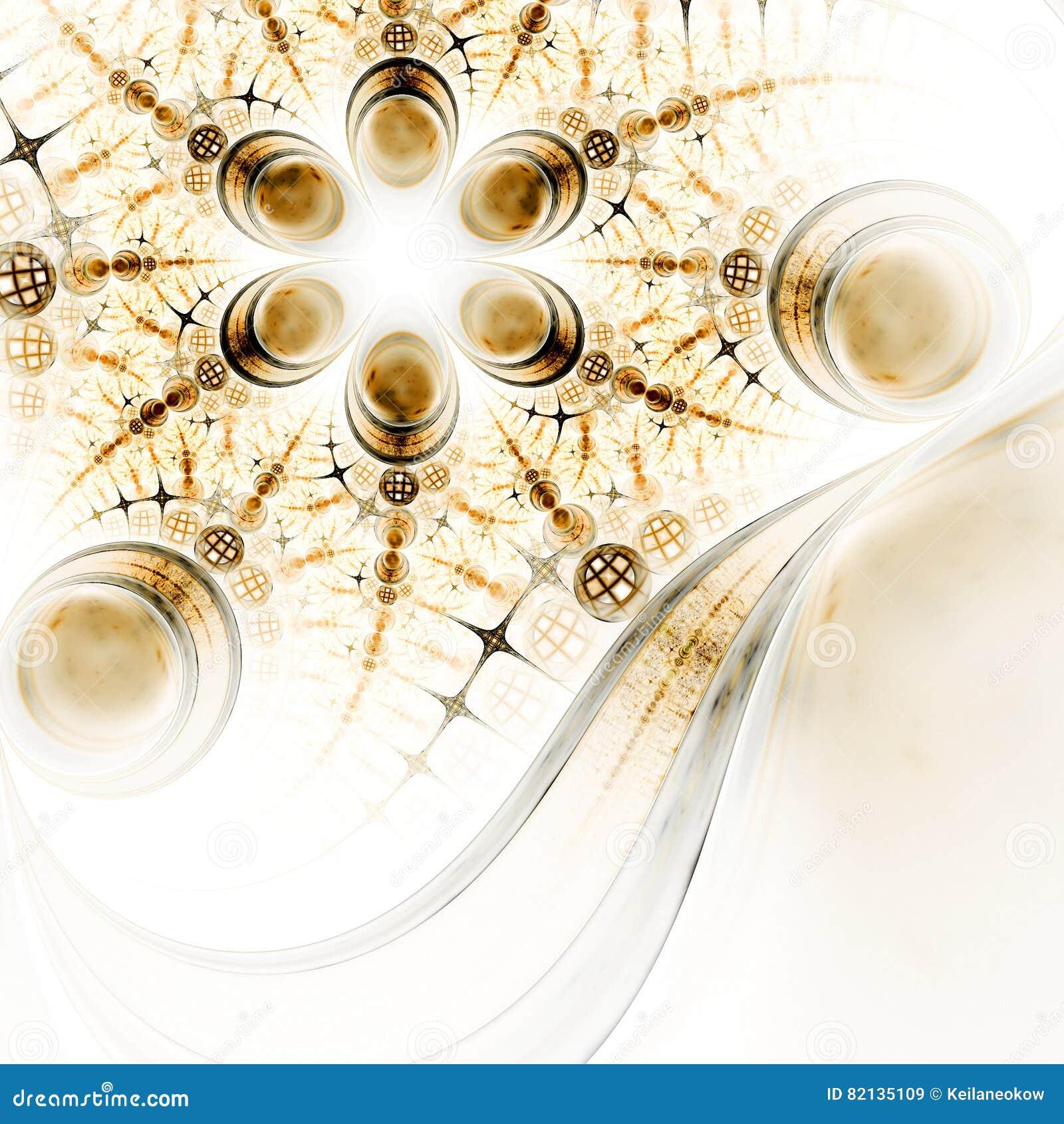 Abstracte fractal bloem met gedetailleerd patroon