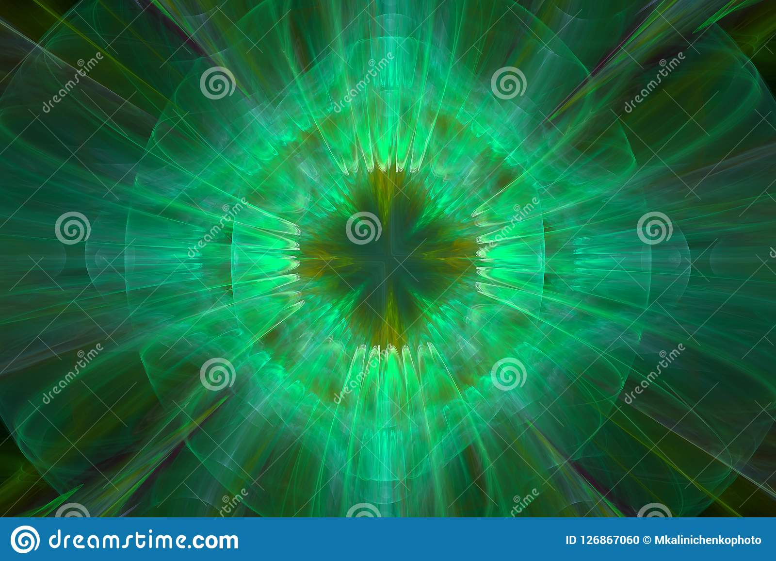 Abstracte fractal groene surreal ruimteachtergrond Computersoorten