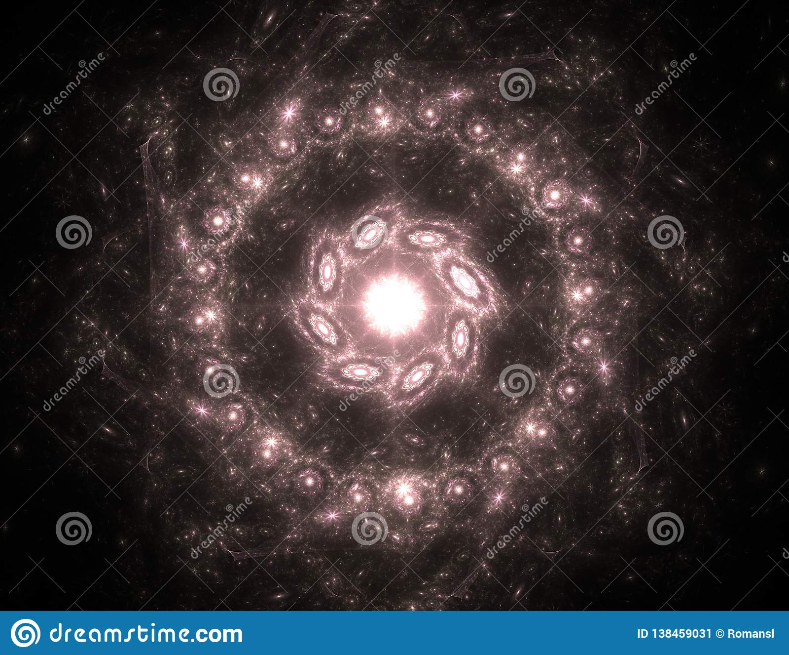 Abstracte fractal schipbreuk, digitaal kunstwerk voor creatief grafisch ontwerp