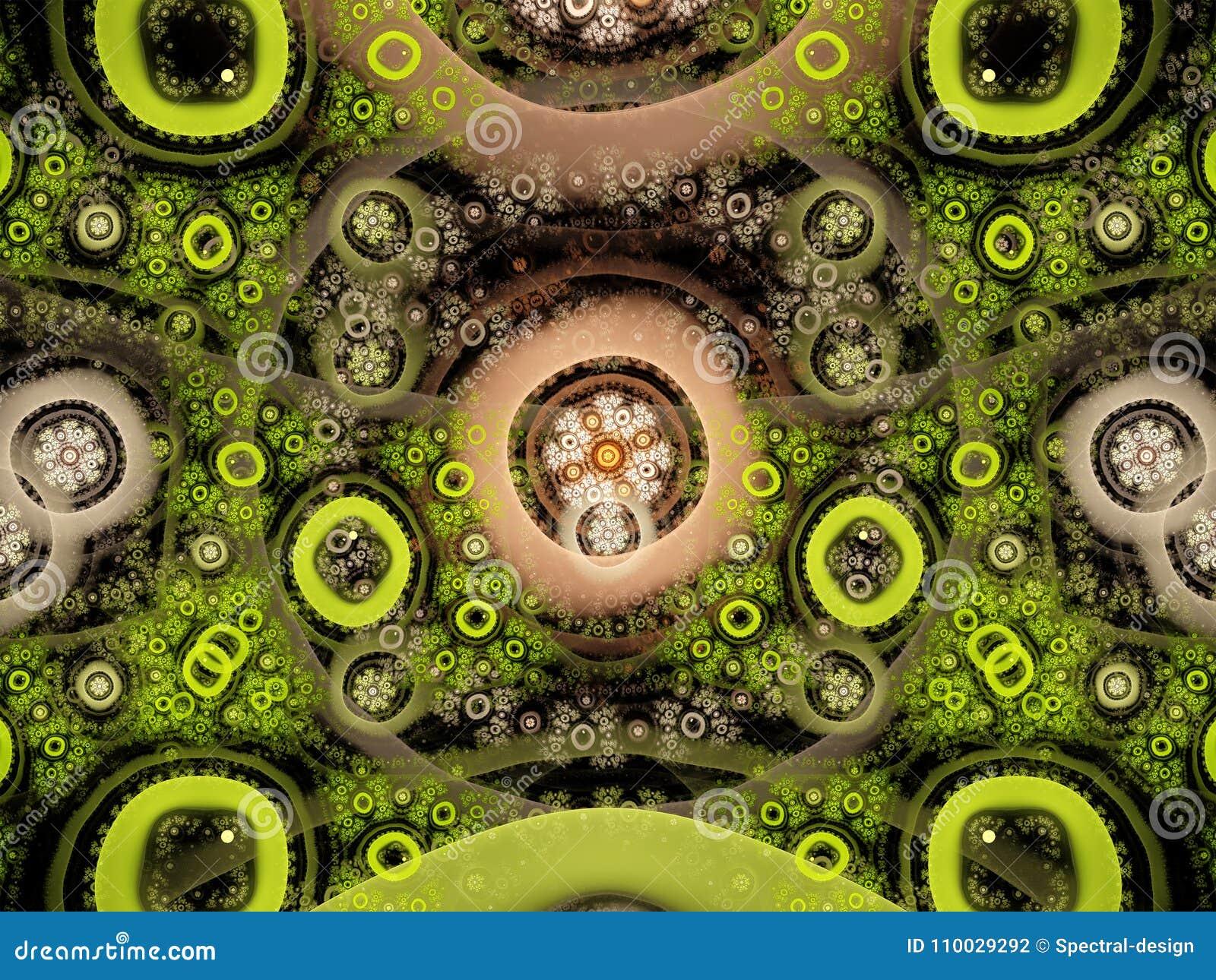 Abstracte fractal vlamfractal achtergrond