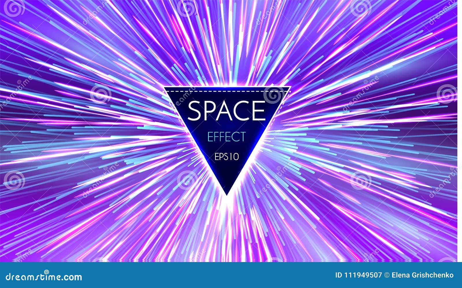 Abstracte Futuristische Perspectief en Motie Lichte Achtergrond Sterafwijking in Hyperspace Ruimtesprong