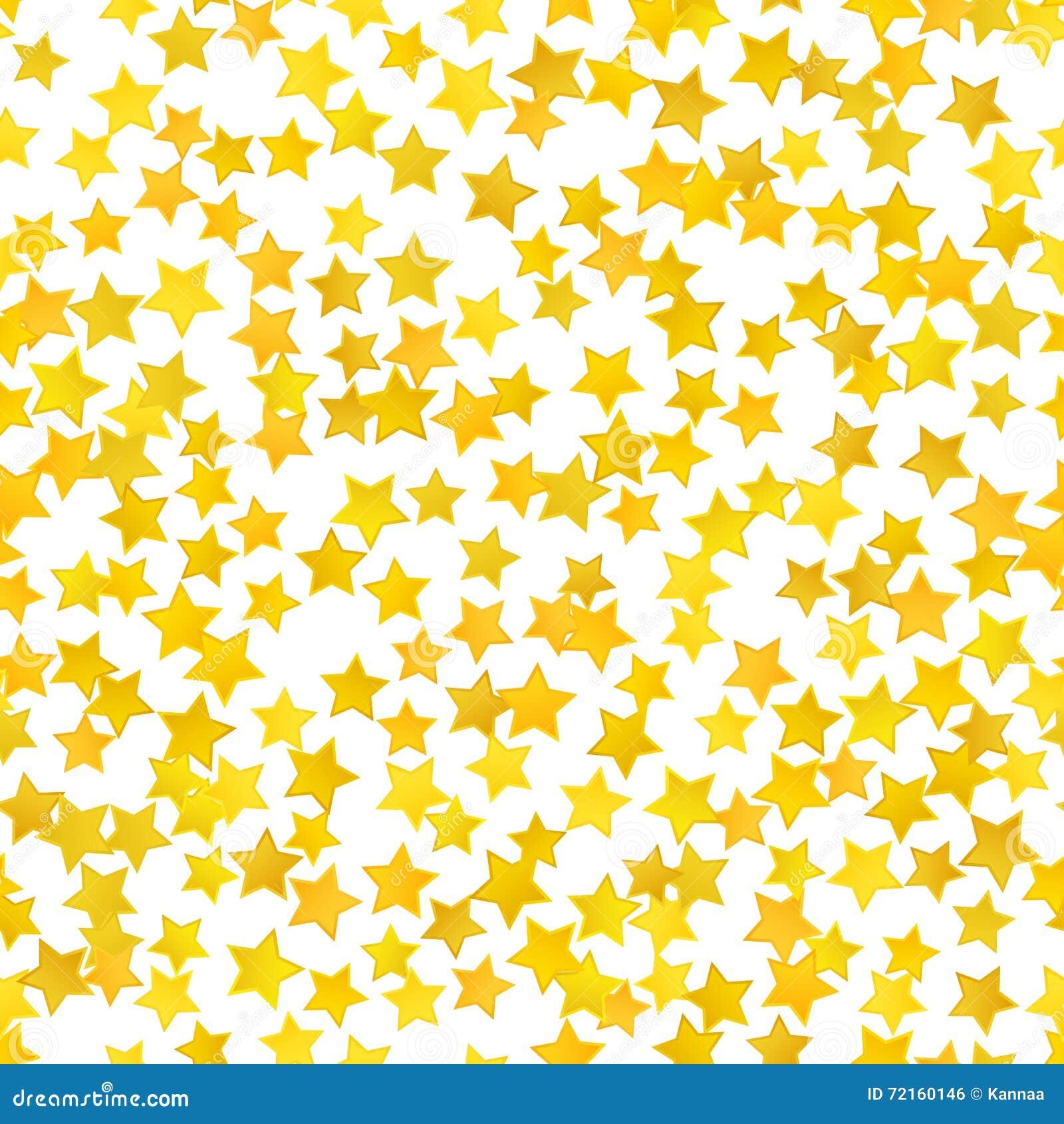 Abstracte gele sterachtergrond Vector illustratie