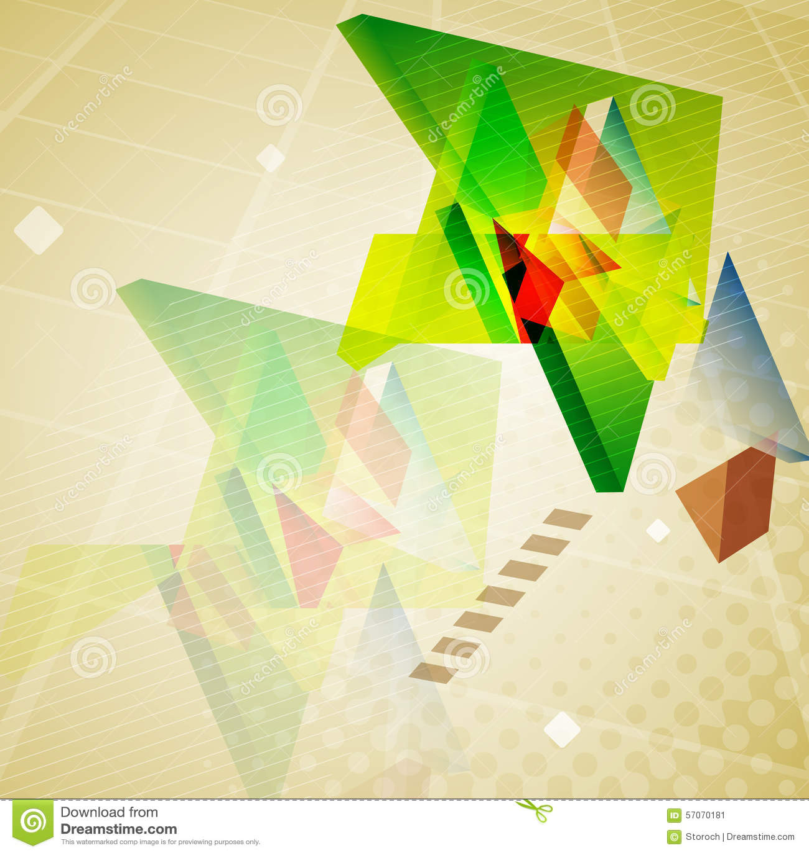Abstracte geometrische driehoekenachtergrond