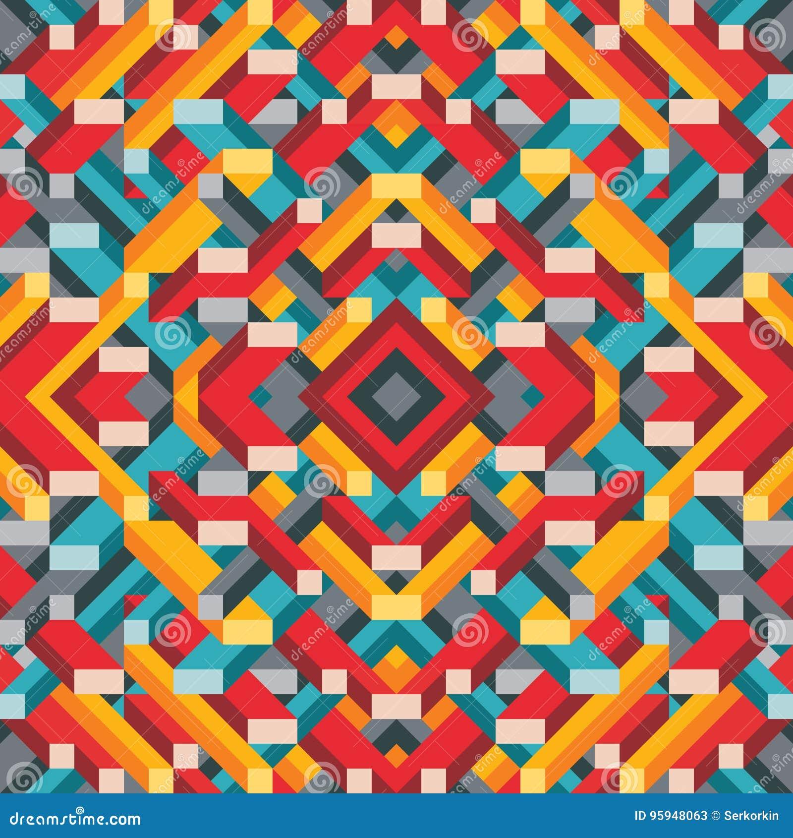 Abstracte geometrische vectorachtergrond voor presentatie, boekje, website en ander ontwerpproject Mozaïek gekleurd patroon