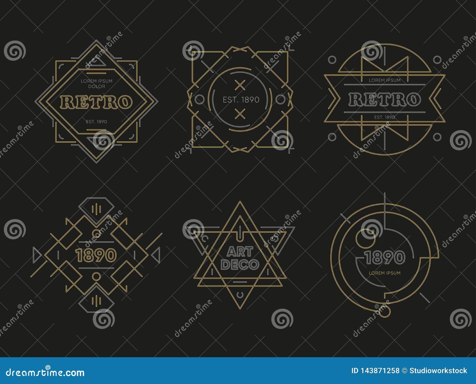 Abstracte geometrische vectoremblemen