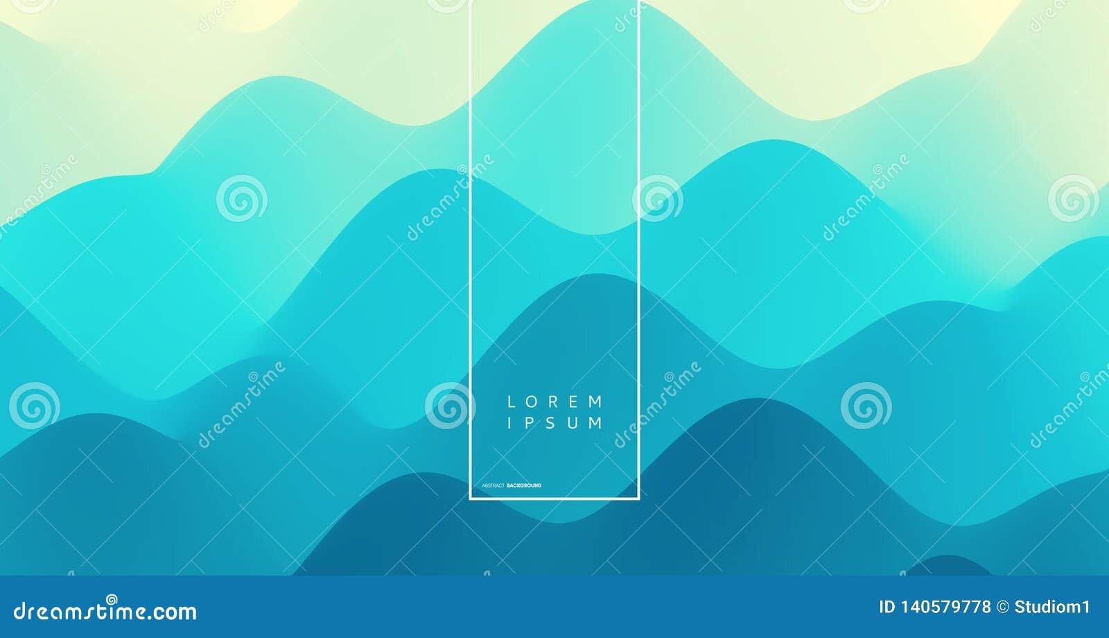 Abstracte golvende achtergrond met dynamisch effect Vector illustratie Kan voor reclame, marketing, presentatie worden gebruikt