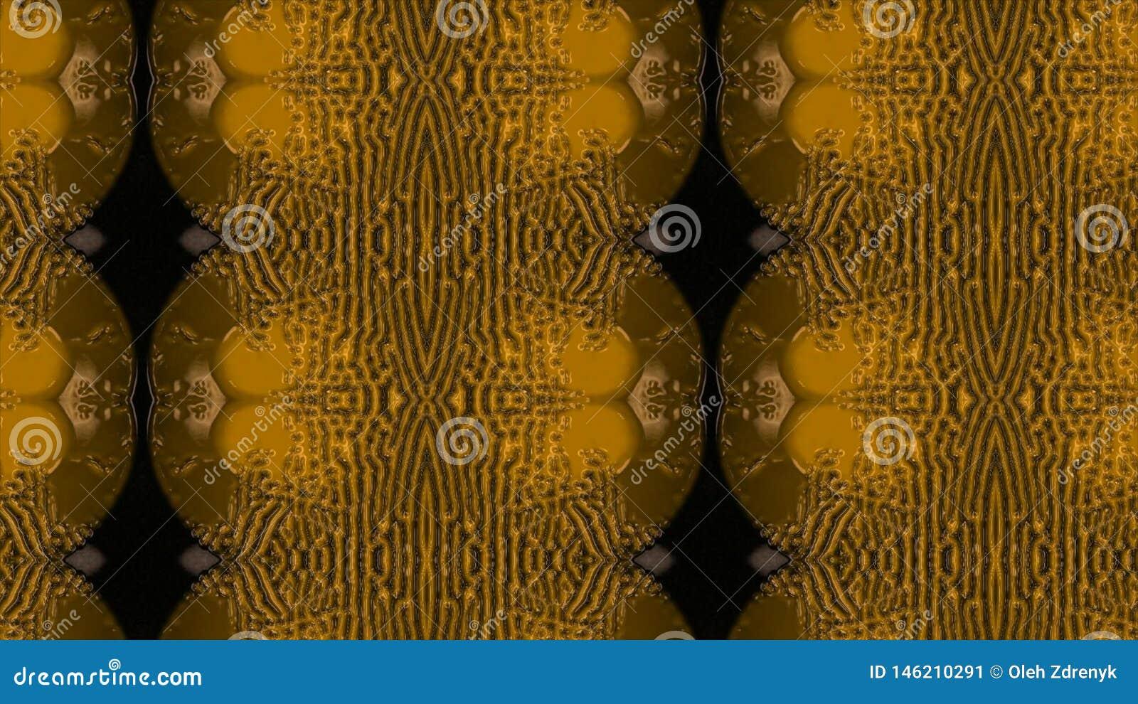 Abstracte gouden vloeistof Gouden golfachtergrond Gouden achtergrond Gouden textuur Lava, noga, karamel, amber, honing, olie
