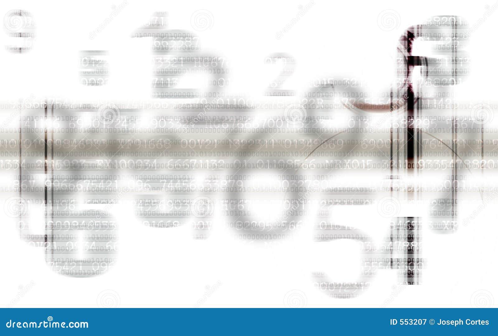 Abstracte Grijze aantallenachtergrond