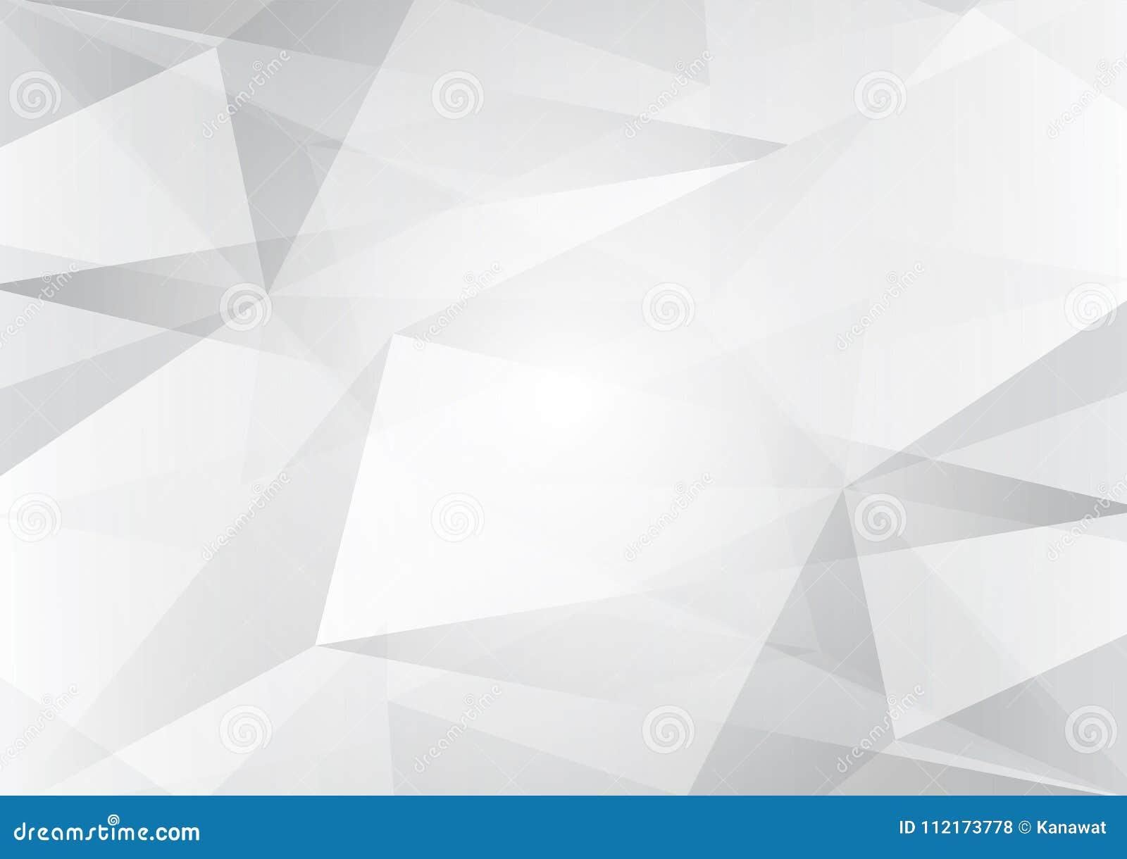 Abstracte grijze en witte kleuren lage poly, vectorillustratie als achtergrond met exemplaarruimte