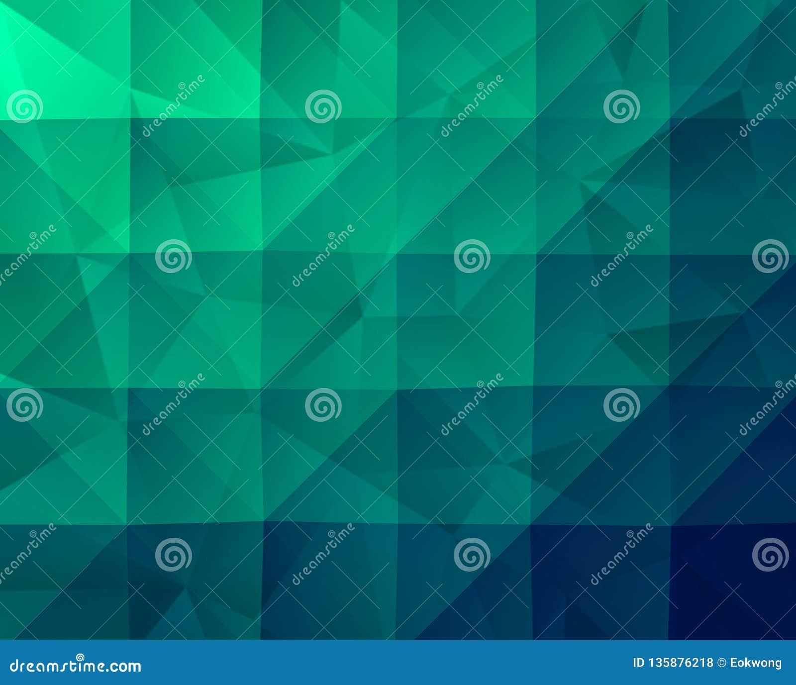 Abstracte Groene Geometrische Achtergrond met Fractal Textuur