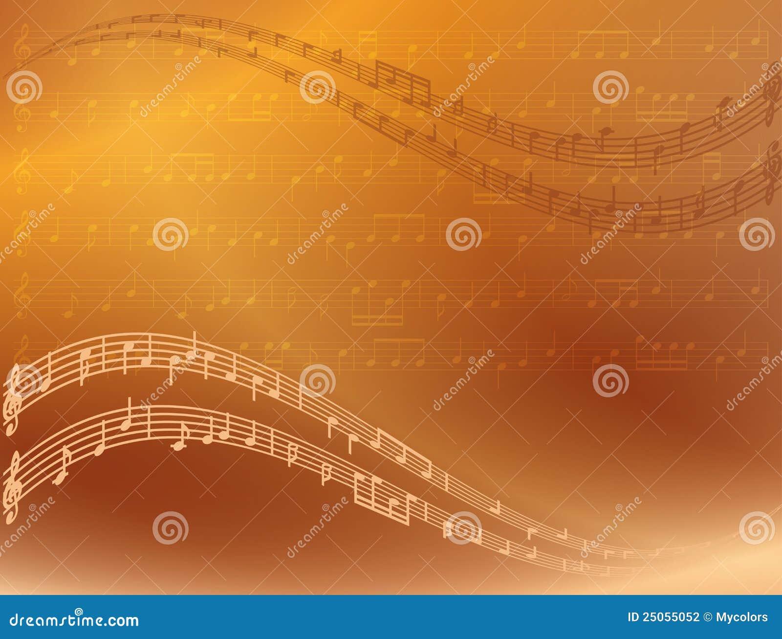 Abstracte heldere vectormuziekachtergrond