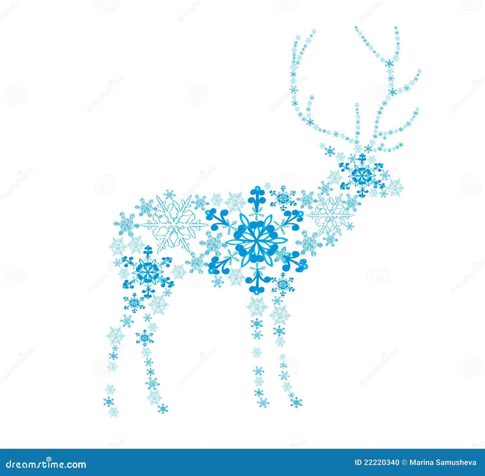 Abstracte herten van sneeuwvlokken