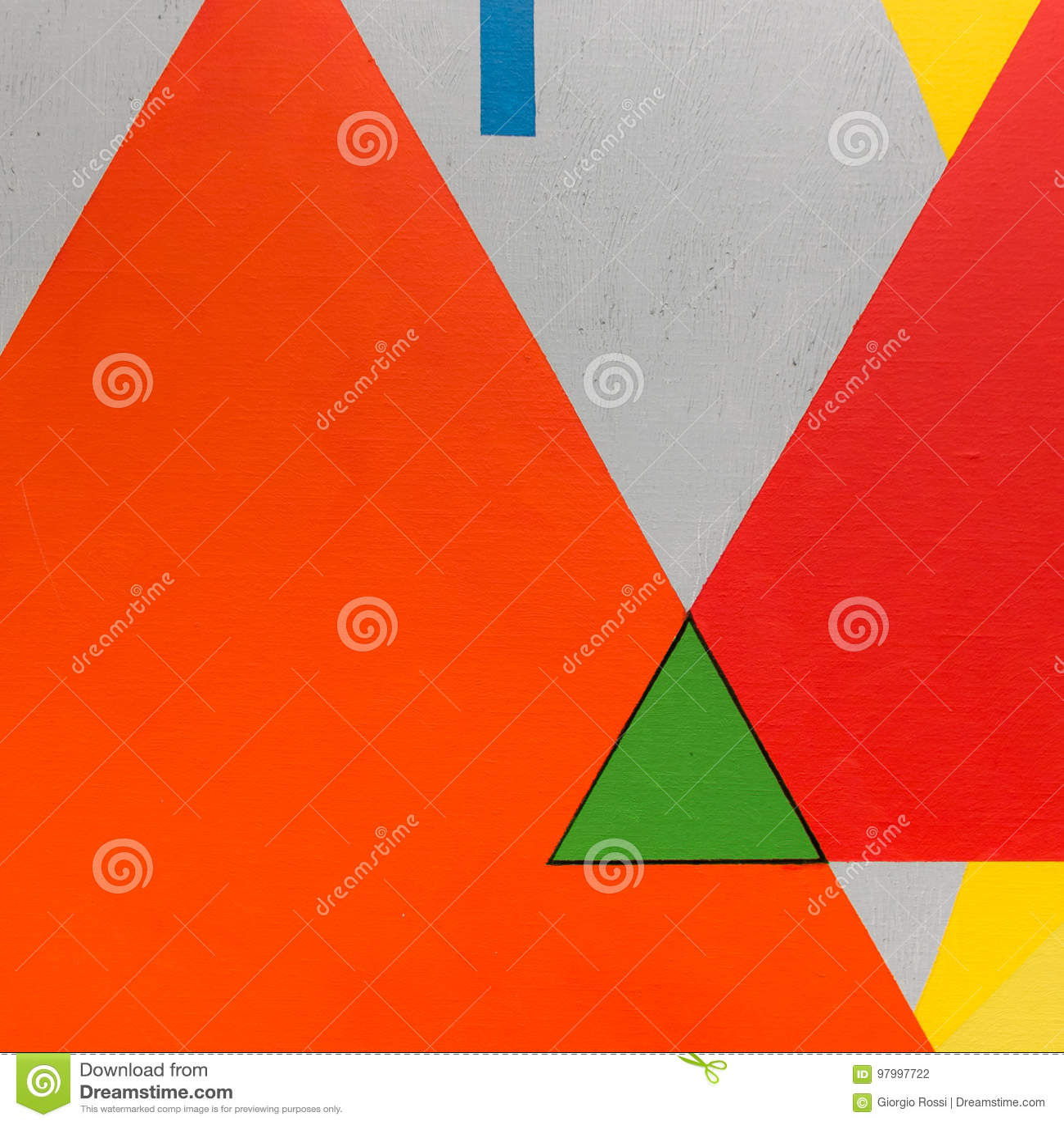 Beste Abstracte Het Schilderen Kunst Met Geometrische Vormen: Kleurrijke ML-81
