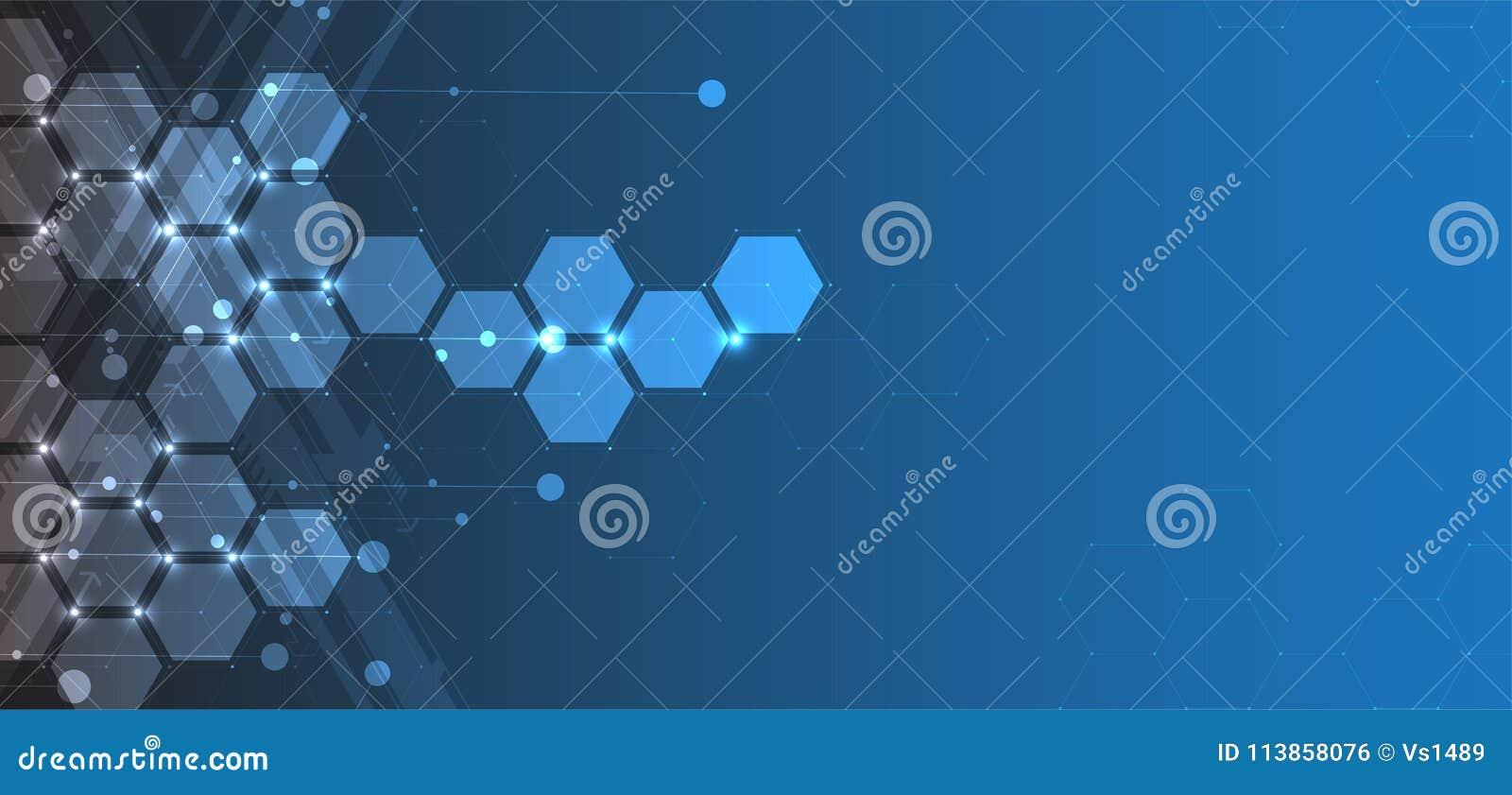 Abstracte hexagon achtergrond Technologie veelhoekig ontwerp Digita
